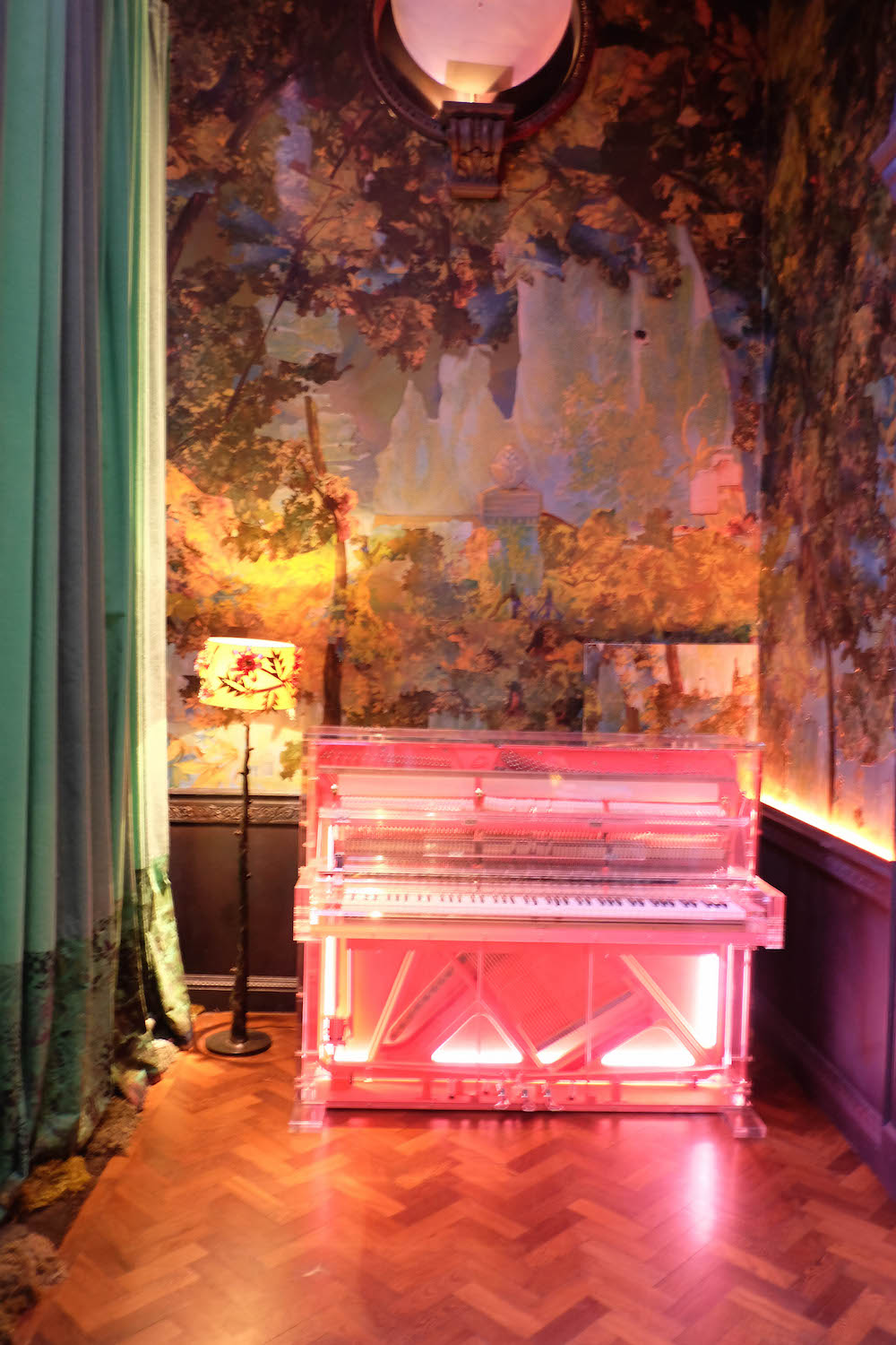 london travel diary - the stripe - sketch london neon piano