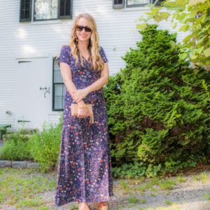 Floral Maxi Dress on Cape Cod.