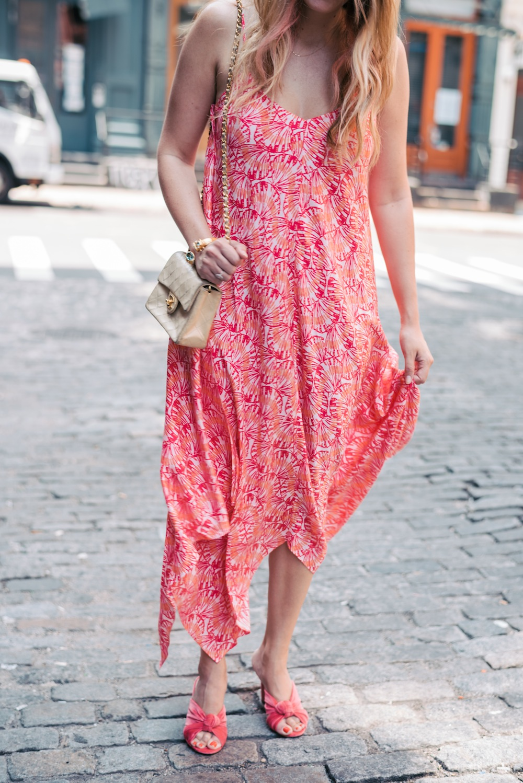 Vineyard Vines Seashell Print Handkerchief Hem Maxi Dress | The Stripe