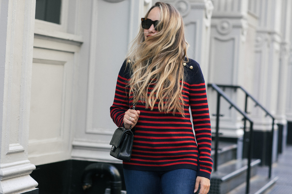 classic fall street style | the stripe, grace atwood