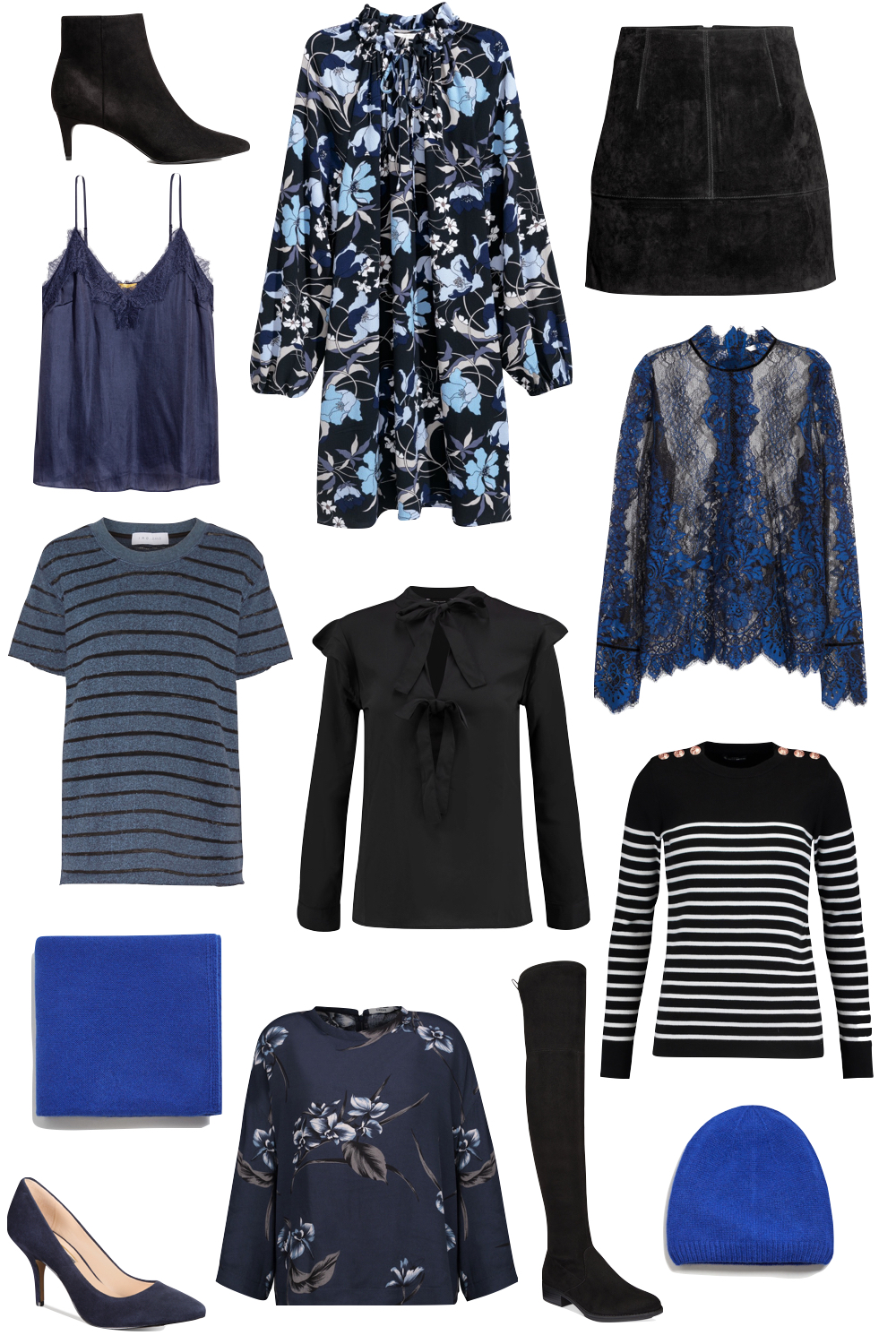 the best black + blue pieces for under $100   Kelly's Chic - The Stripe