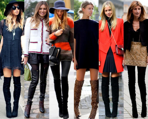 so many great ways to wear over the knee boots!
