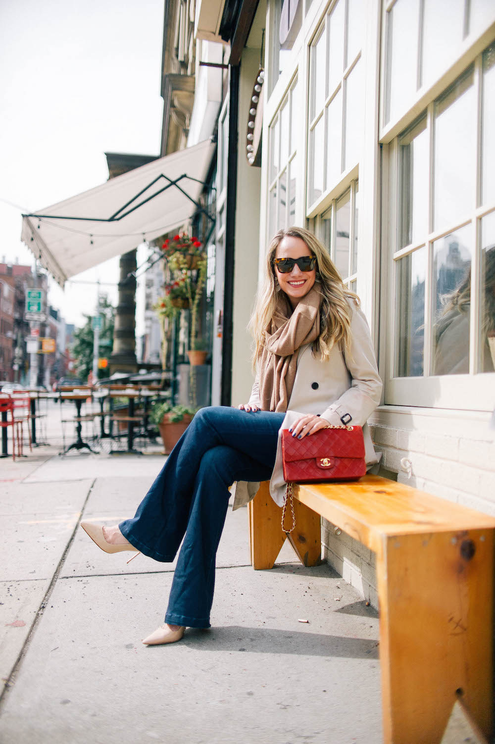 the best flare jeans | the stripe