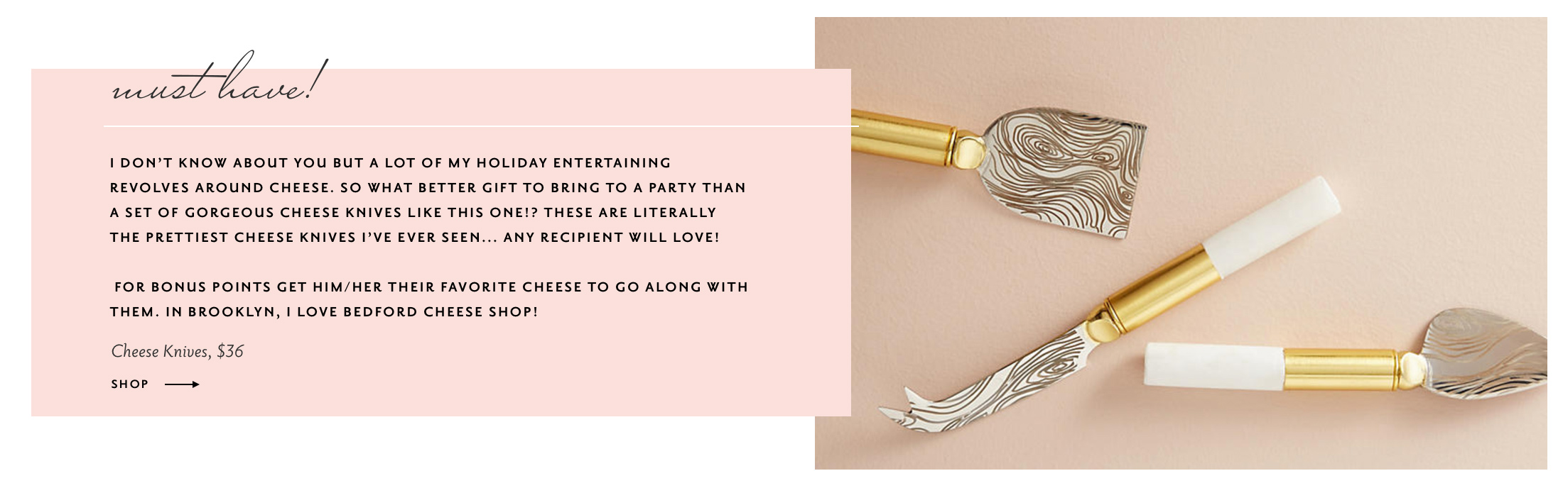 best hostess gifts 2017 | anthropologie cheese knives