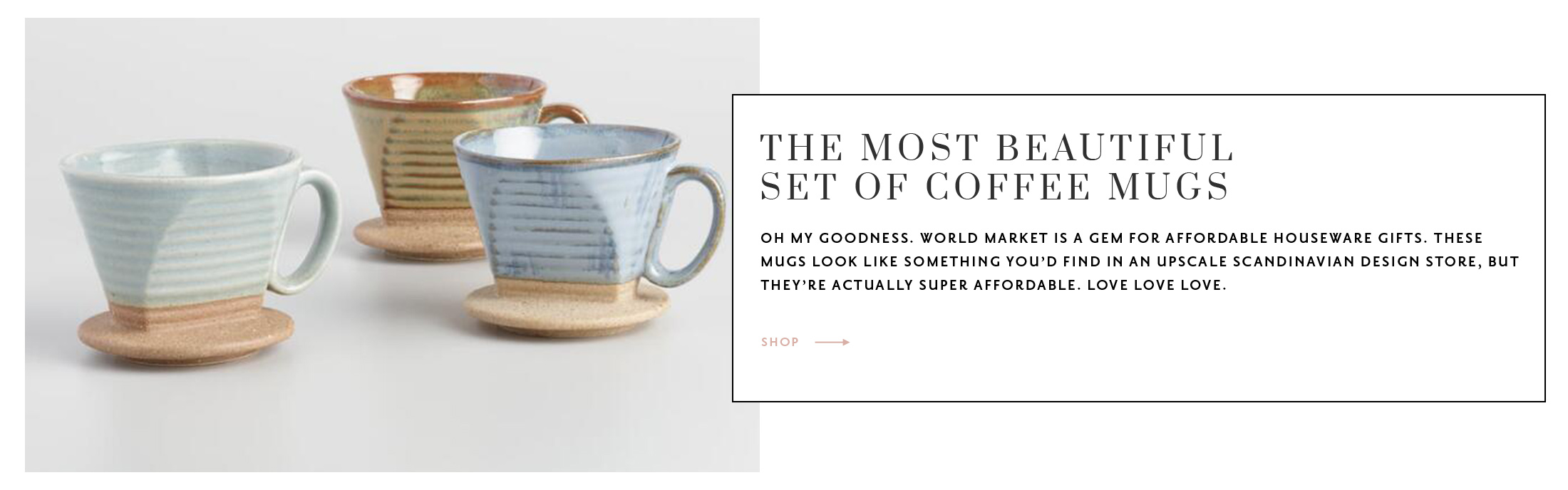 The Best Gifts Under $50 - Set of coffee mugs