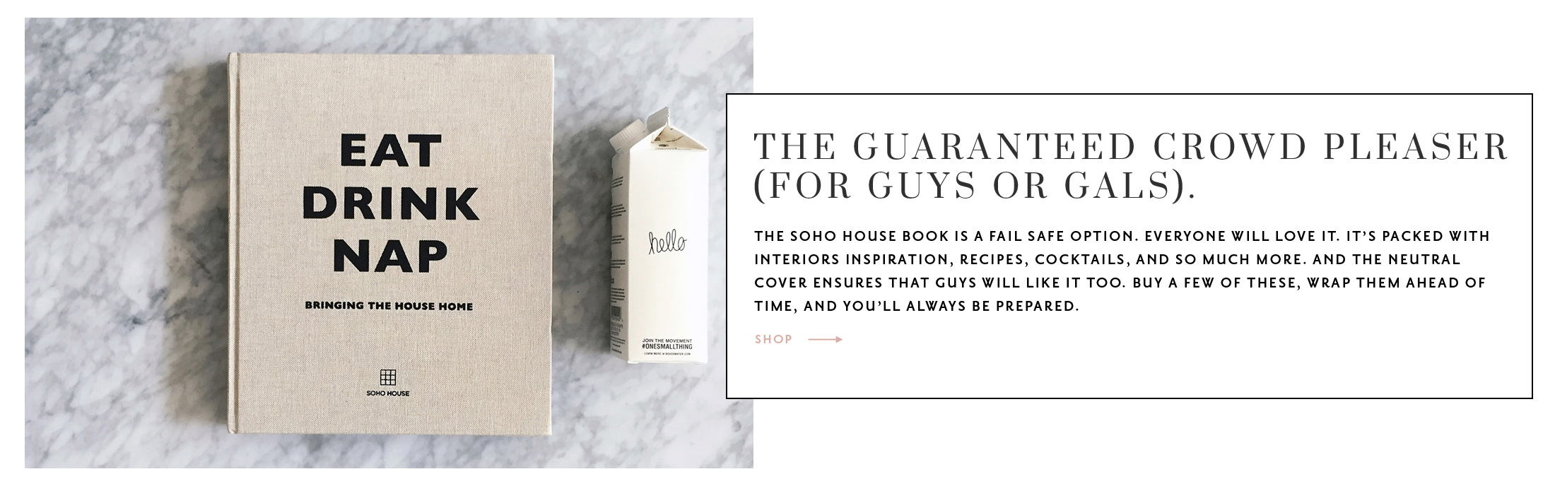 best hostess gifts 2017 | soho house eat drink nap book