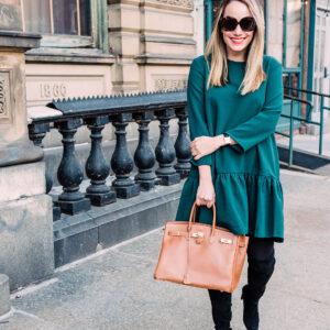 Emerald Green Dress.