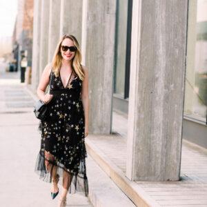 Star Print Dress.