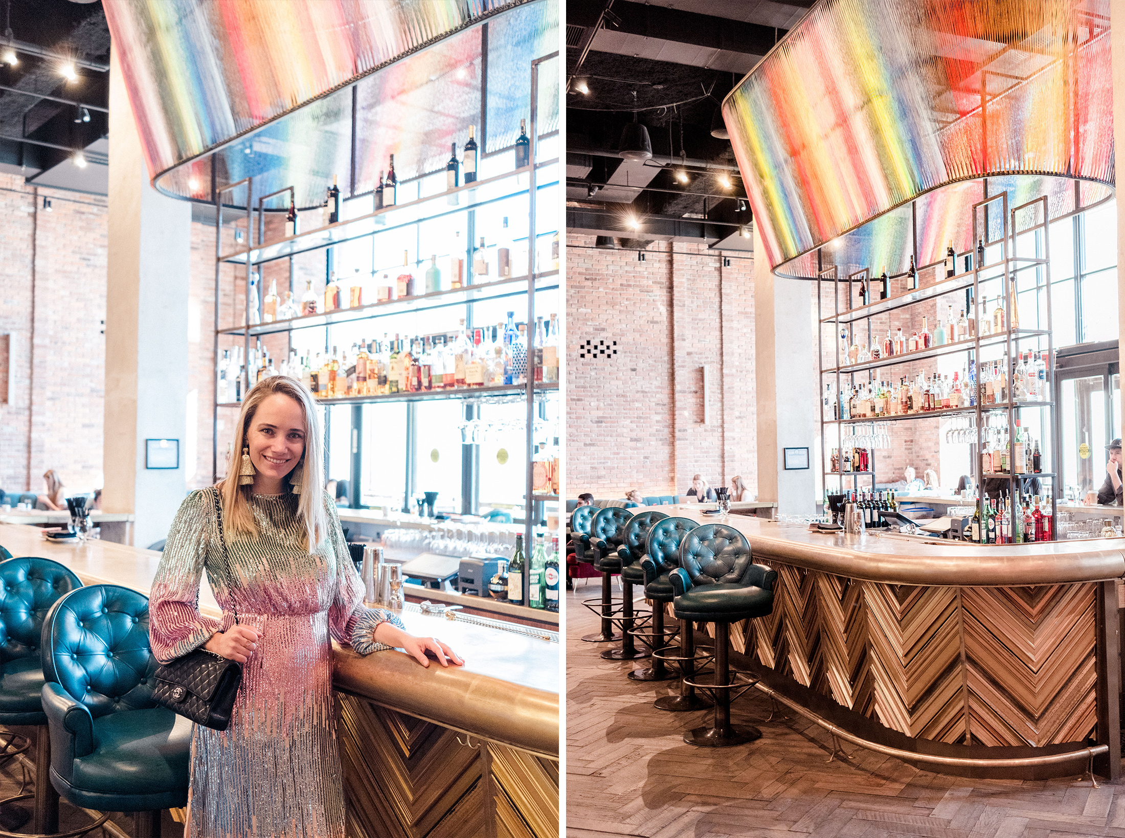 Rixo London Coco Sequin Dress, The Williamsburg Hotel Bar | Grace Atwood, The Stripe