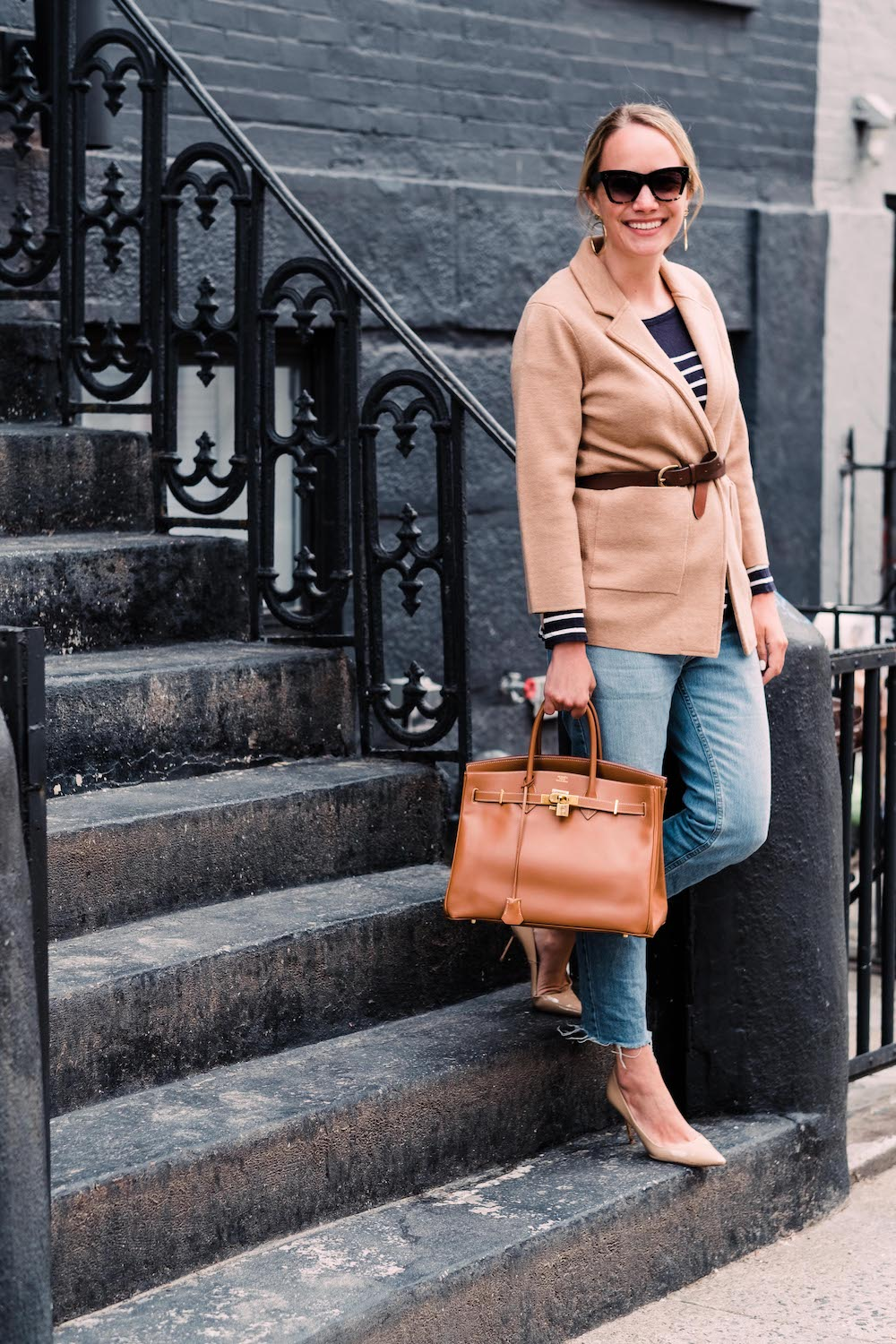 j.crew merino wool sweater-blazer + a few of my favorite podcasts | grace atwood, the stripe