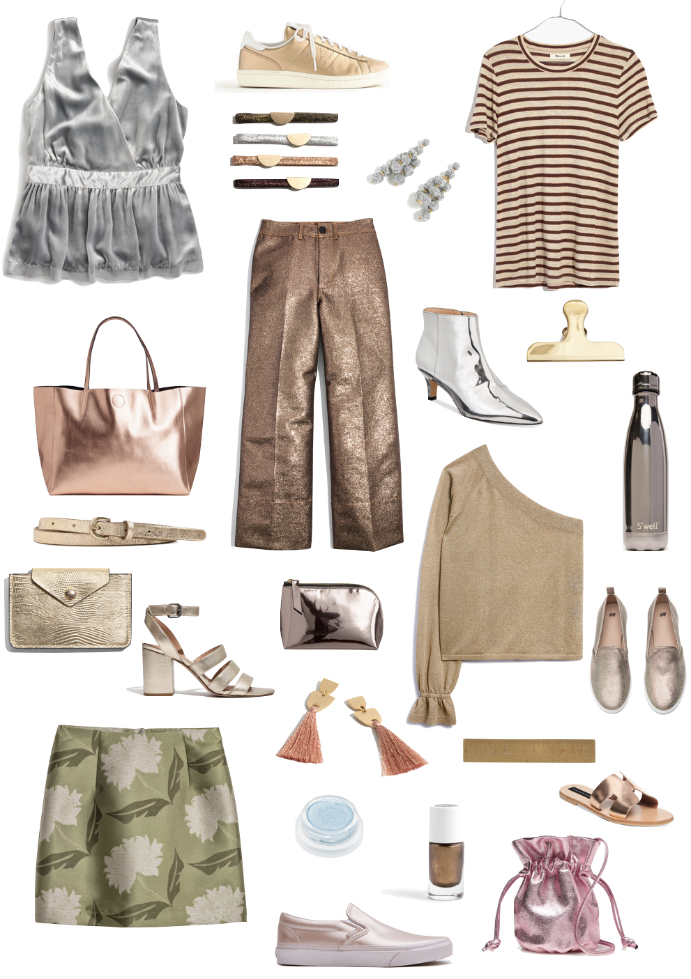 Metallic Pieces for Under $100 | The perfect unexpected way to update your wardrobe for Spring!