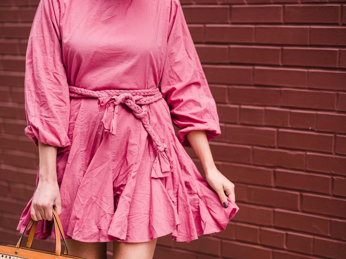 rhode resort ella dress, palmgrens rattan bag   grace atwood, the stripe