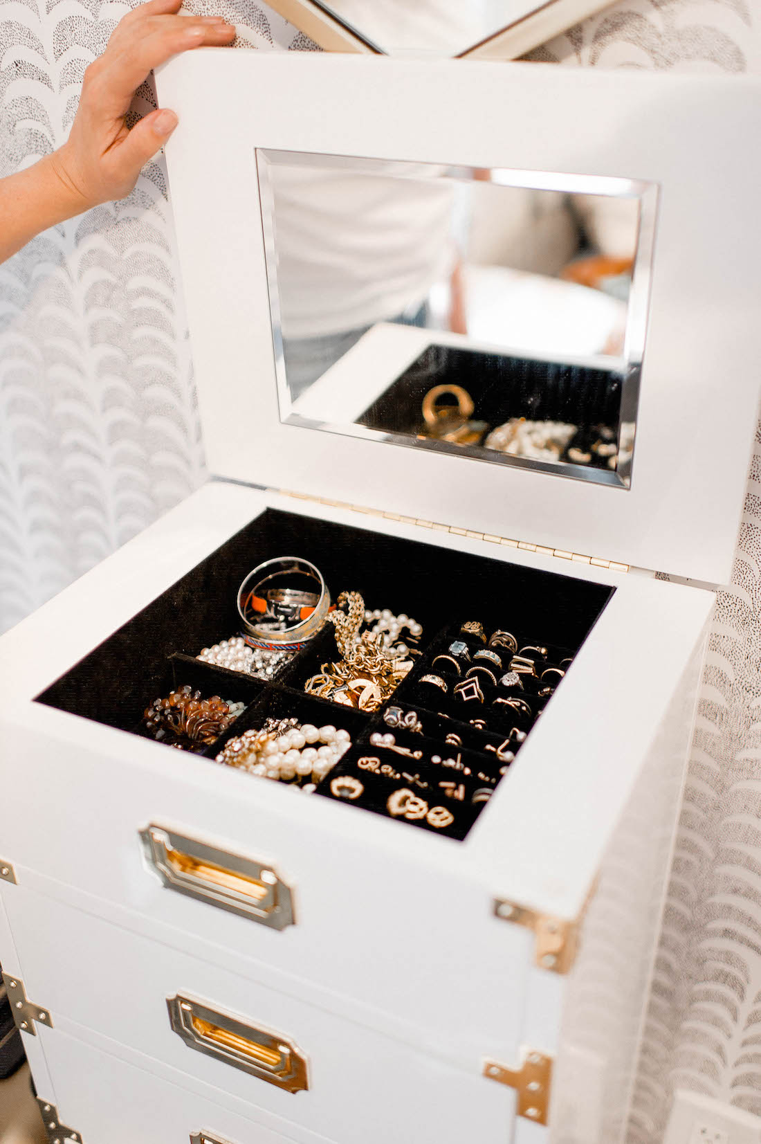 My Jewelry Collection + How I Store It All - the stripe