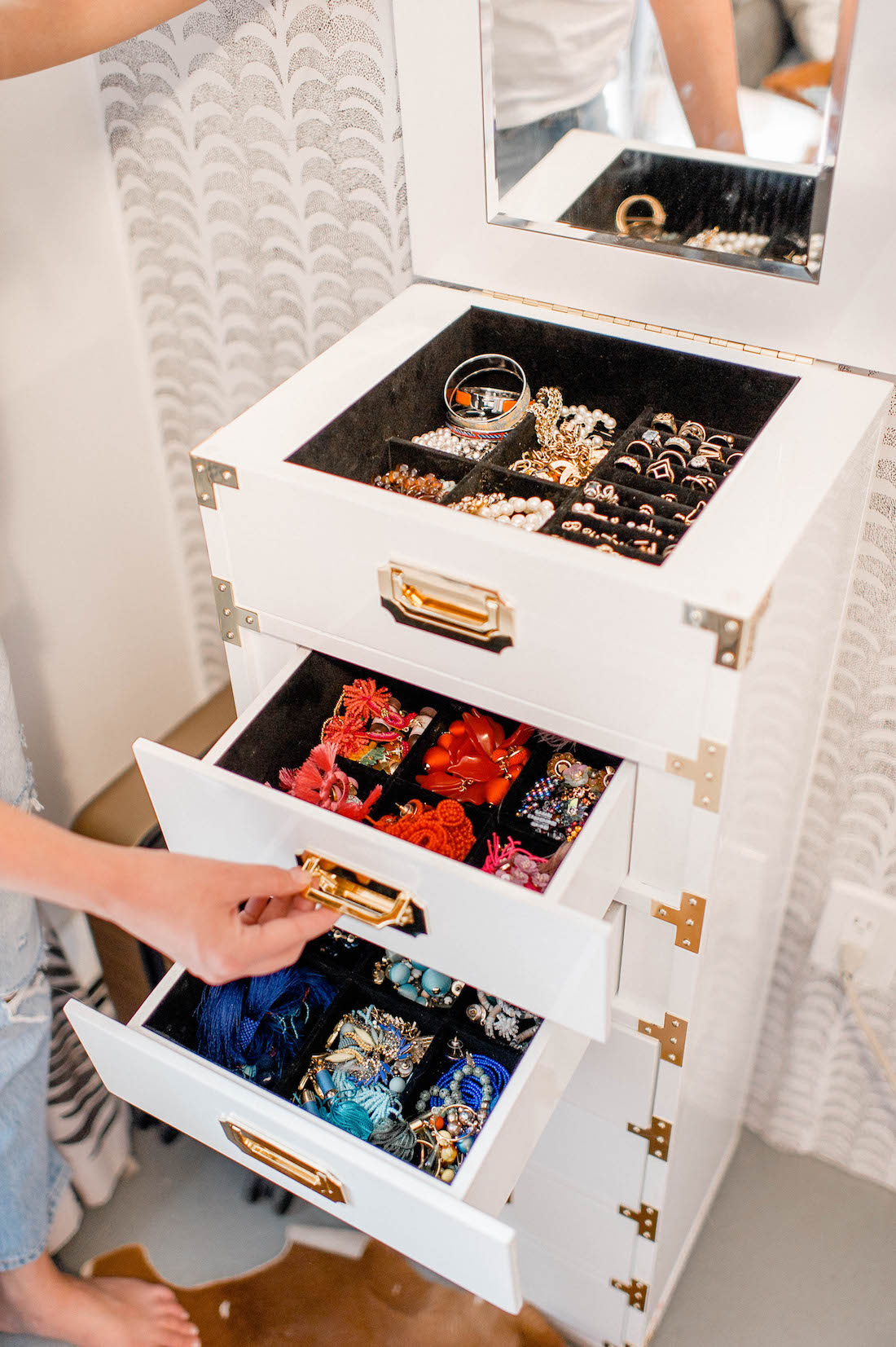 My Jewelry Collection How I Store It All The Stripe