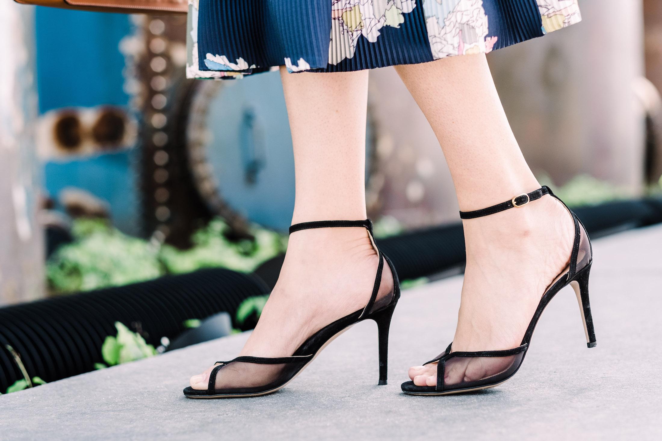 MARION PARKE Lolita Sandal in Black - The Stripe