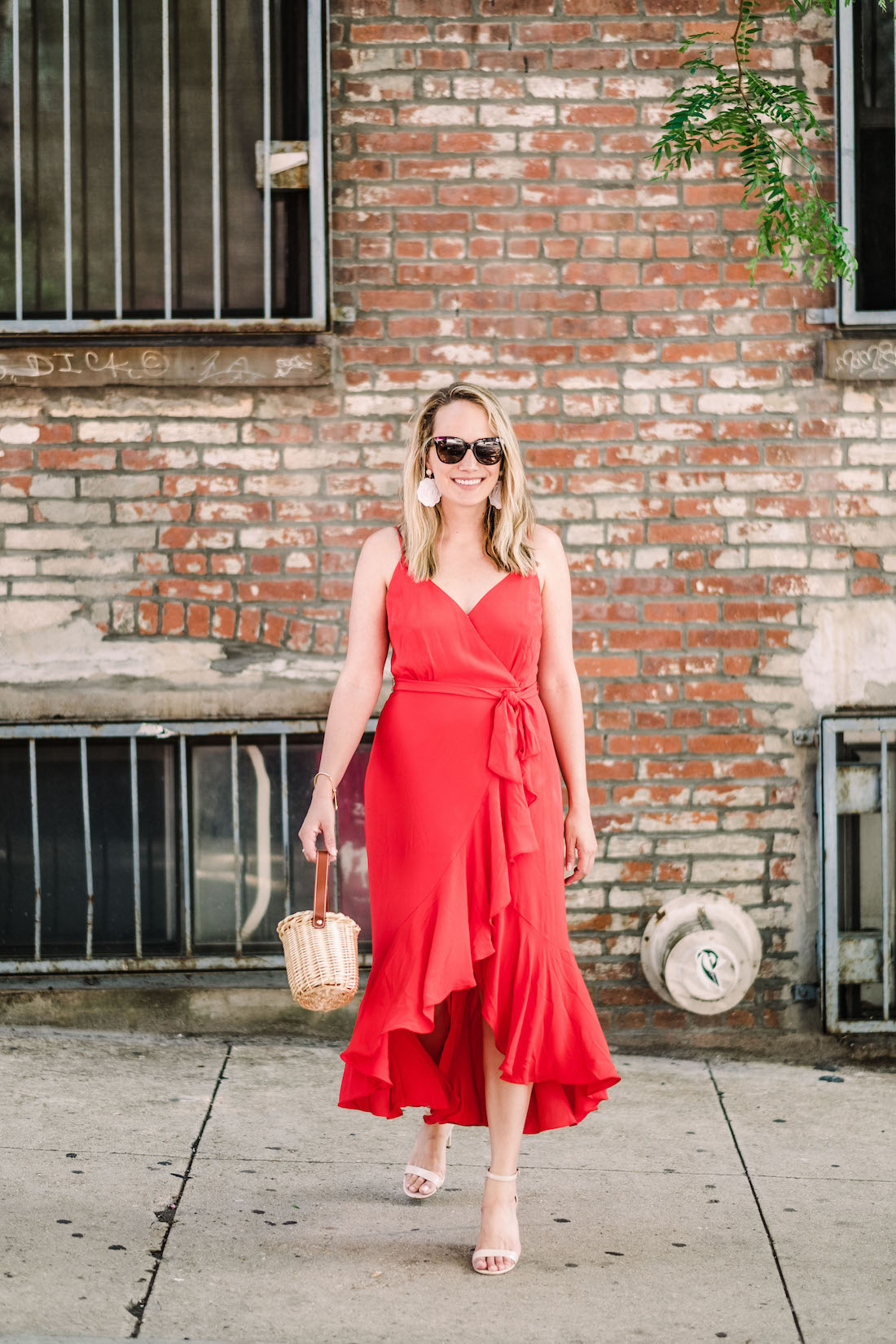 Emoji Dress - j.crew red wrap dress featured - The Stripe