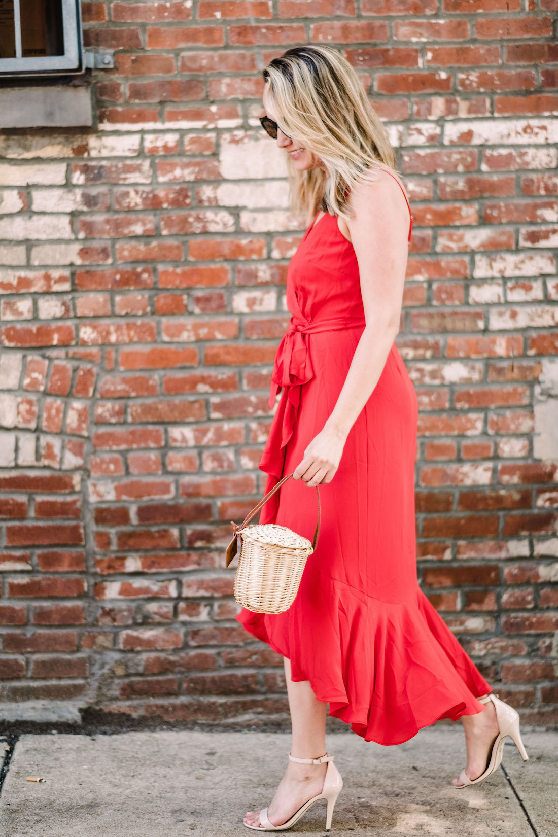 j.crew red wrap dress featured - The Stripe