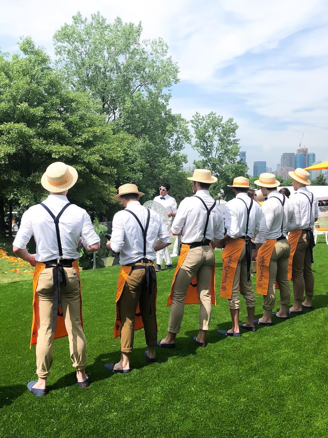 models  in the Veuve Clicquot Polo Classic 2018 - The Stripe