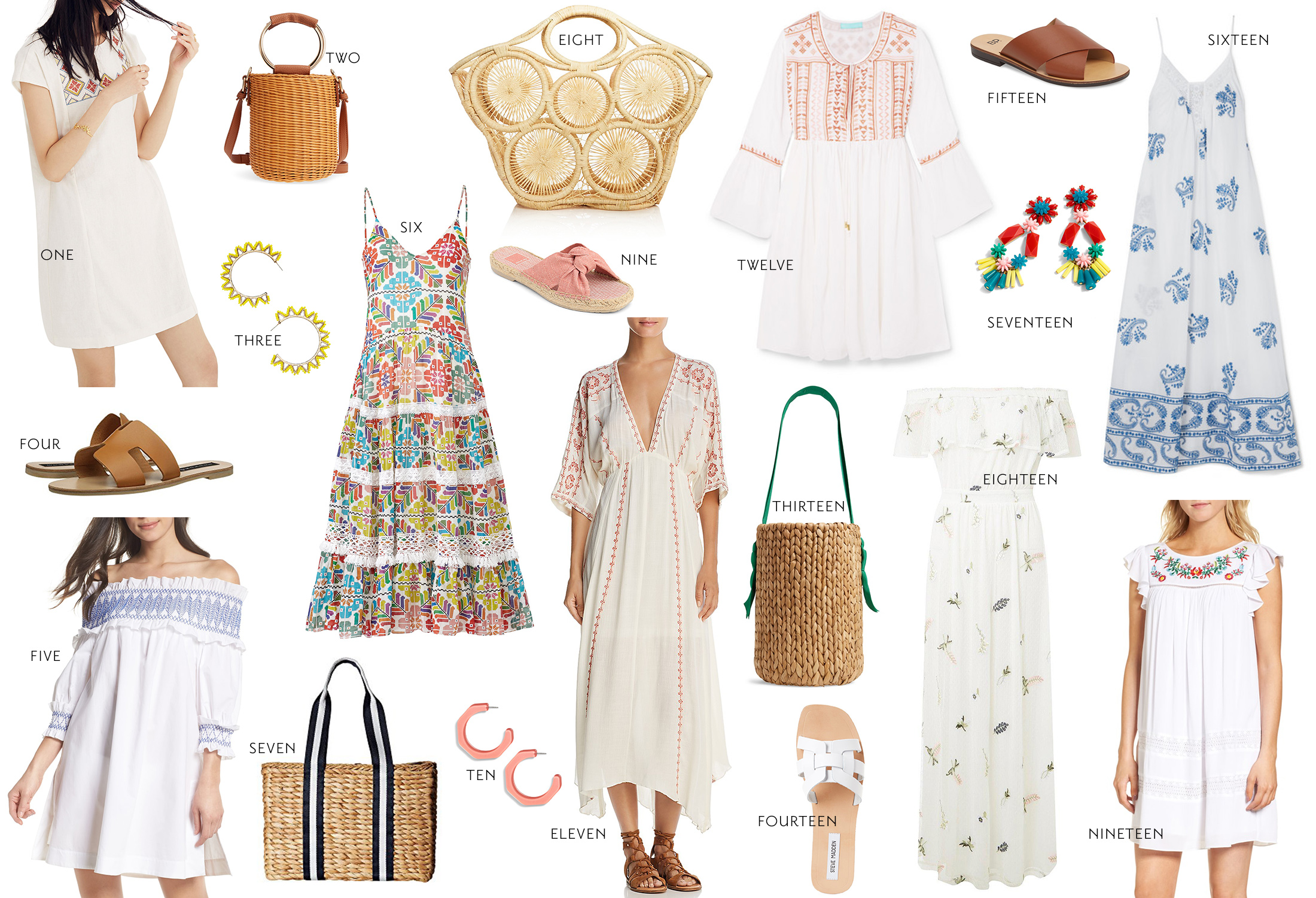 the best embroidered dresses for summer // grace atwood, the stripe