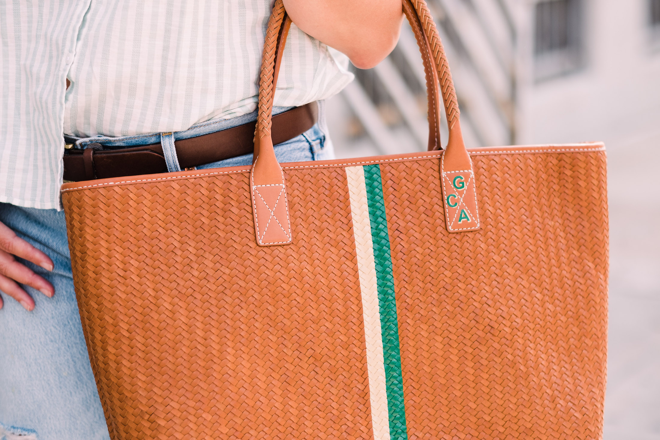 J. McLaughlin Bag (custom monogram by Hathaway Hutton)