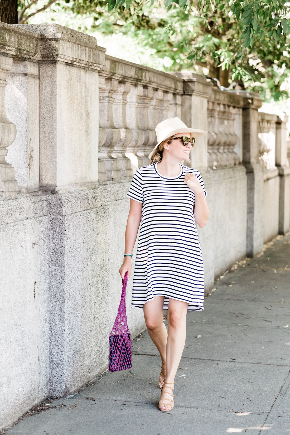 sacai stripe t-shirt dress // grace atwood