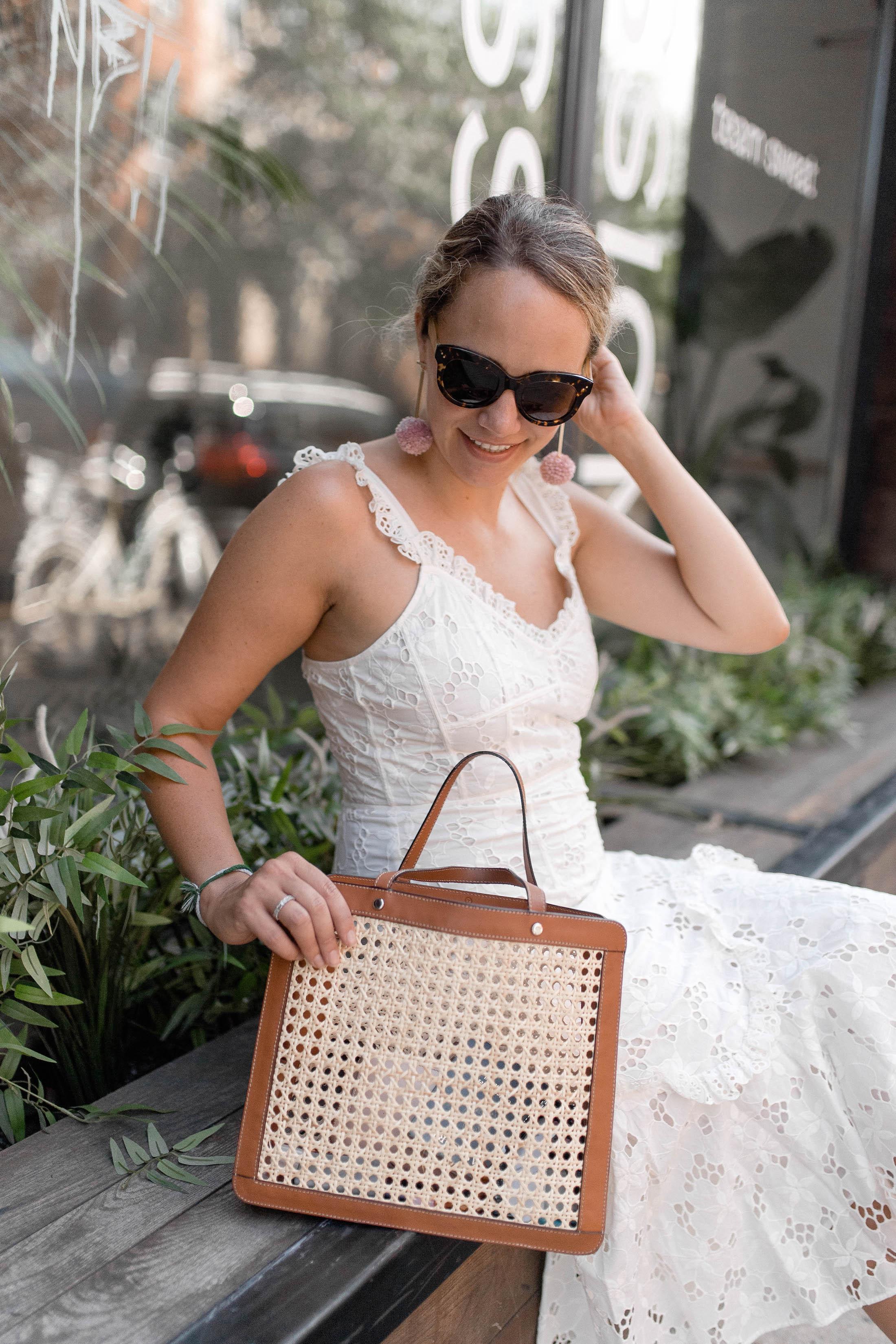 122fb85d5ede Rebecca Taylor Adriana Eyelet Lace-Up Midi Dress 11 - The Stripe