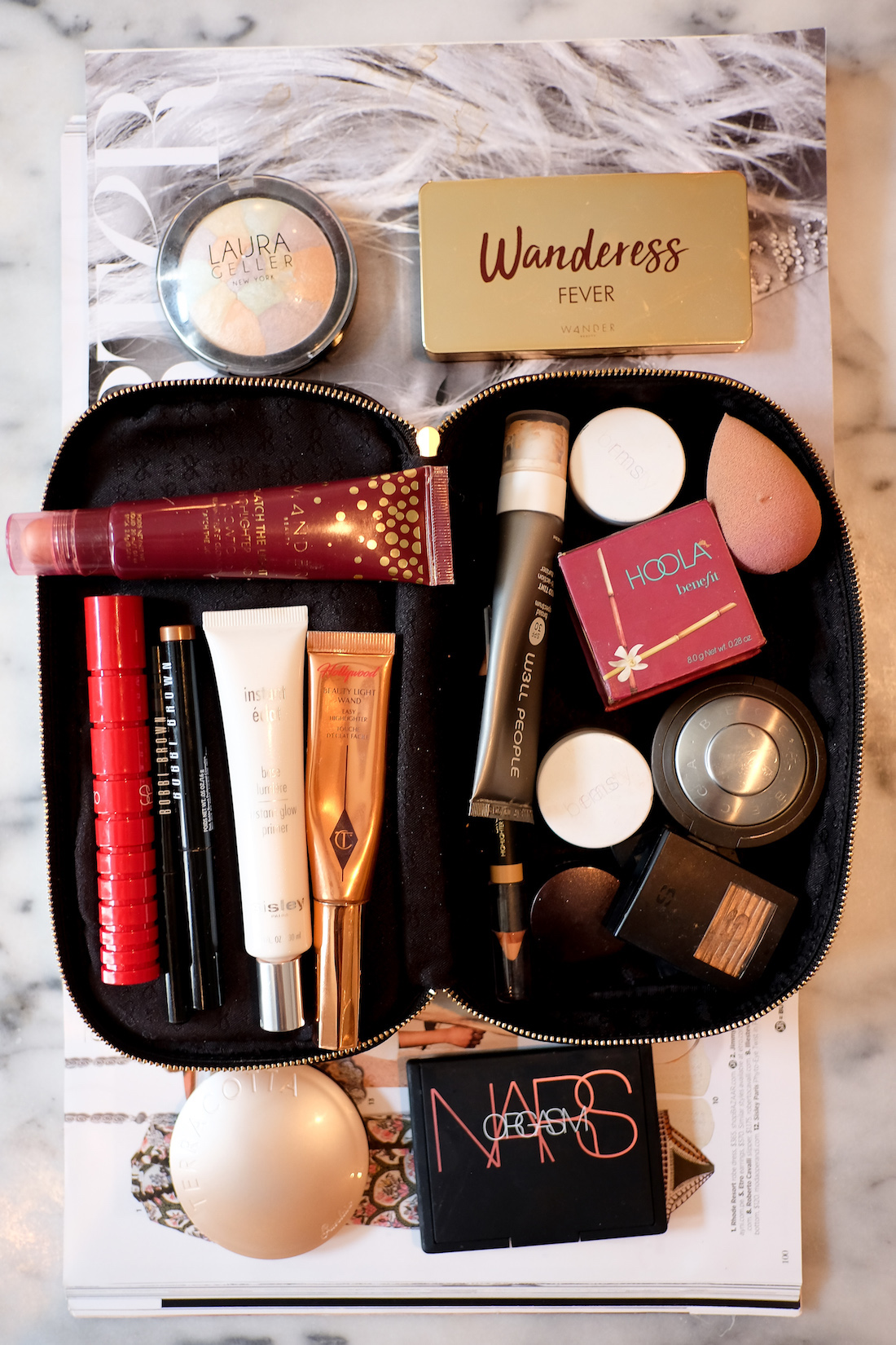About a month ago I finally splurged on this Anya Hindmarch makeup bag. I d  been considering it for some time – several friends have it and swear by  it 3ae279587a7fb