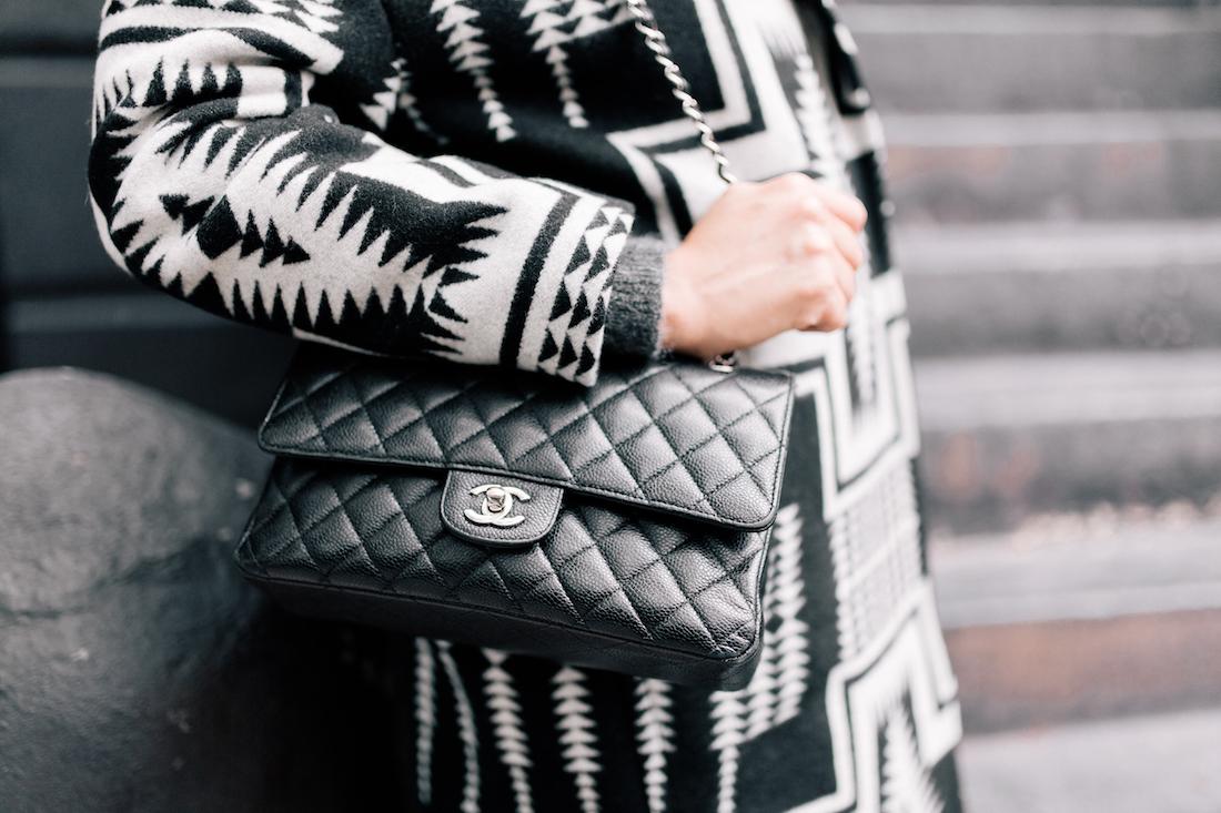 Pendleton Coat //Chanel Purse