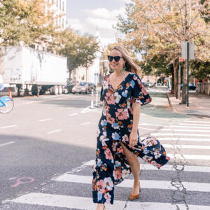 An Affordable Floral Dress for Fall.
