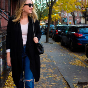 A Cozy Outfit for Fall + Great Winter Basics (All on Sale!)