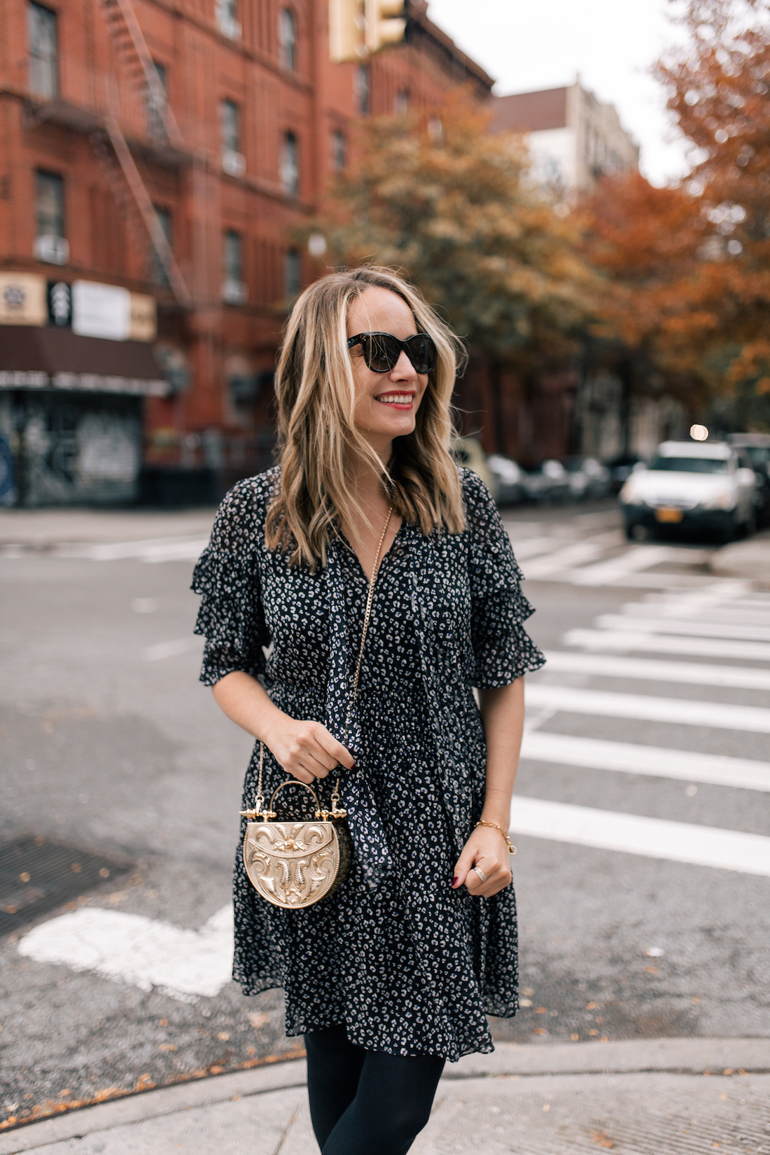 Outfit Details #1:  Rebecca Taylor Dress /// Okhtein Bag