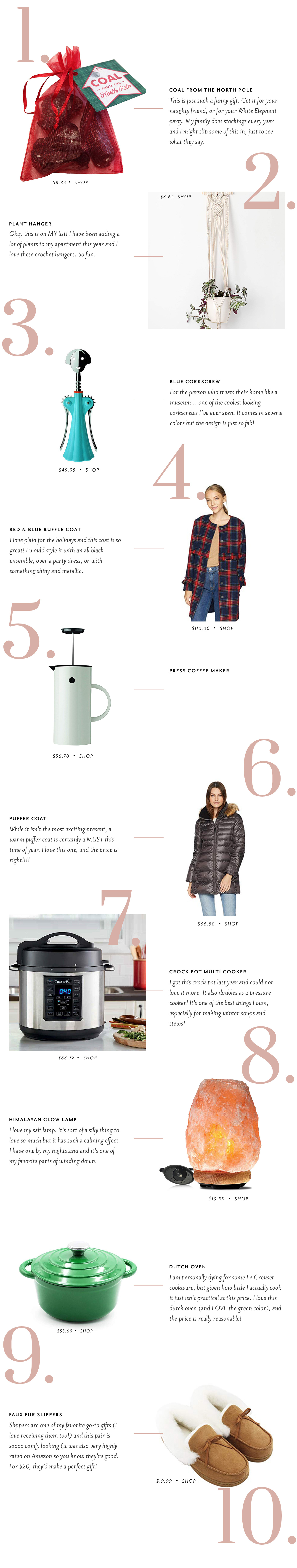the best gifts on amazon right now... holiday 2018 // crock-pot multi-cooker, affordable parka, enamel dutch oven and more! // grace atwood, the stripe