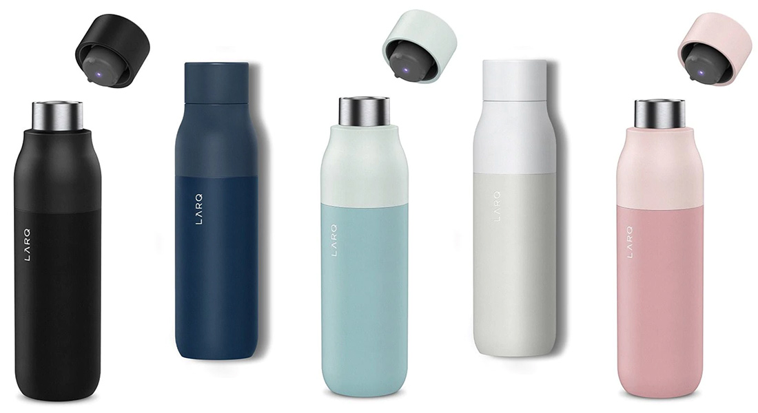 The LARQ bottle is rechargeable.