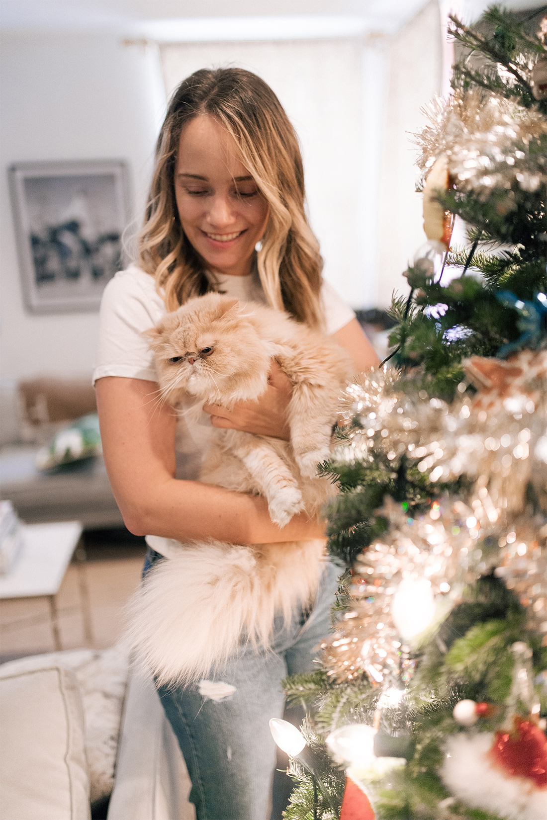 Grace Atwood and her cat
