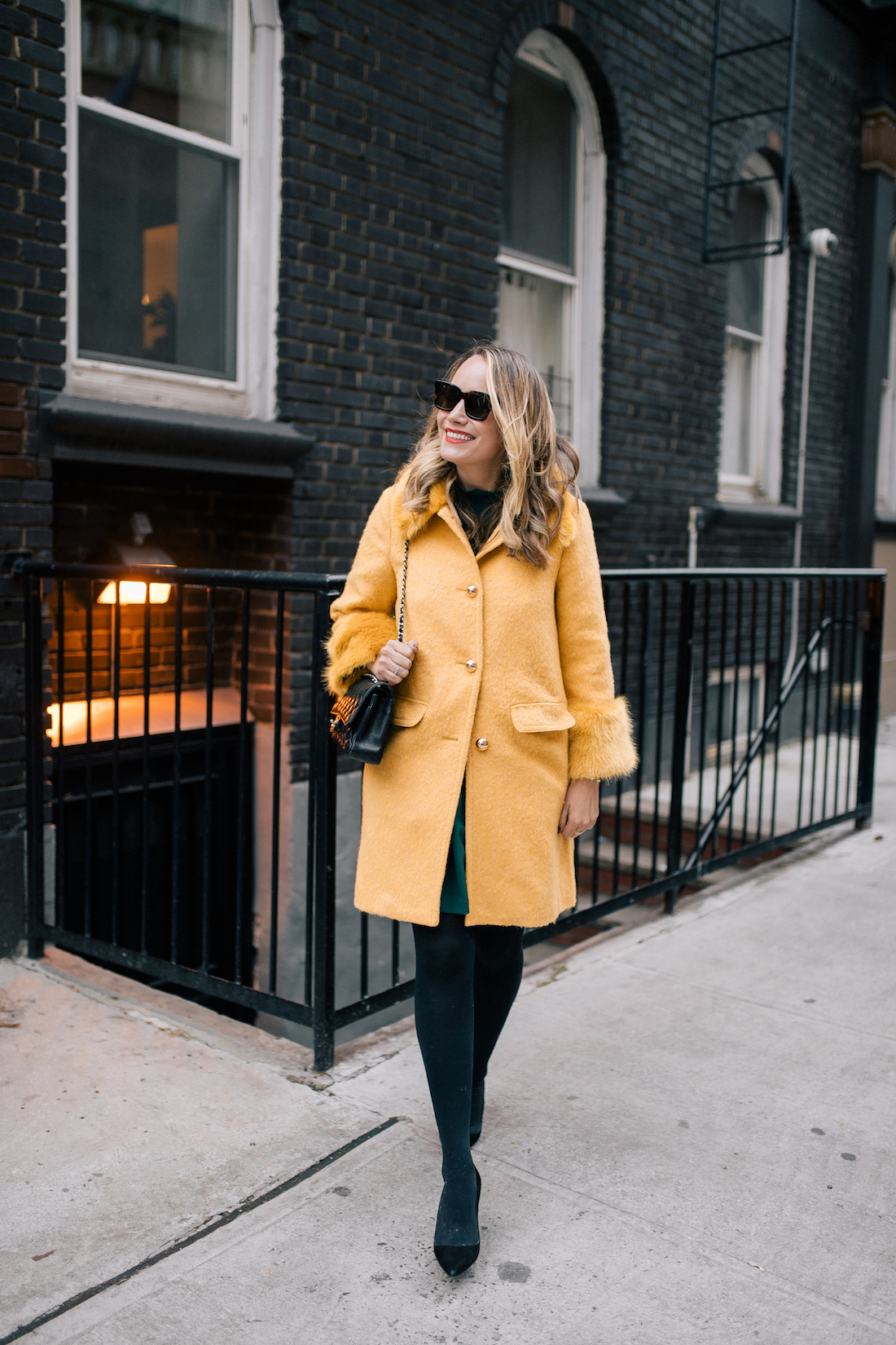 green and yellow outfit
