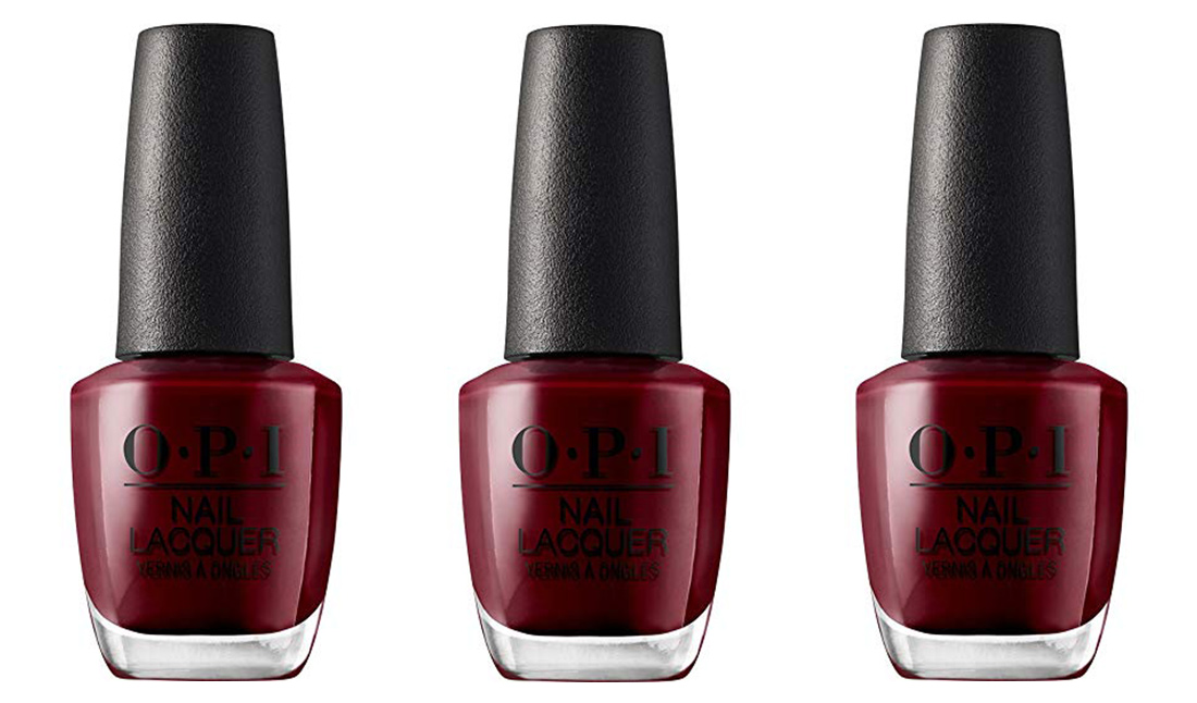 six // The perfect red (but not too red!) nail polish.