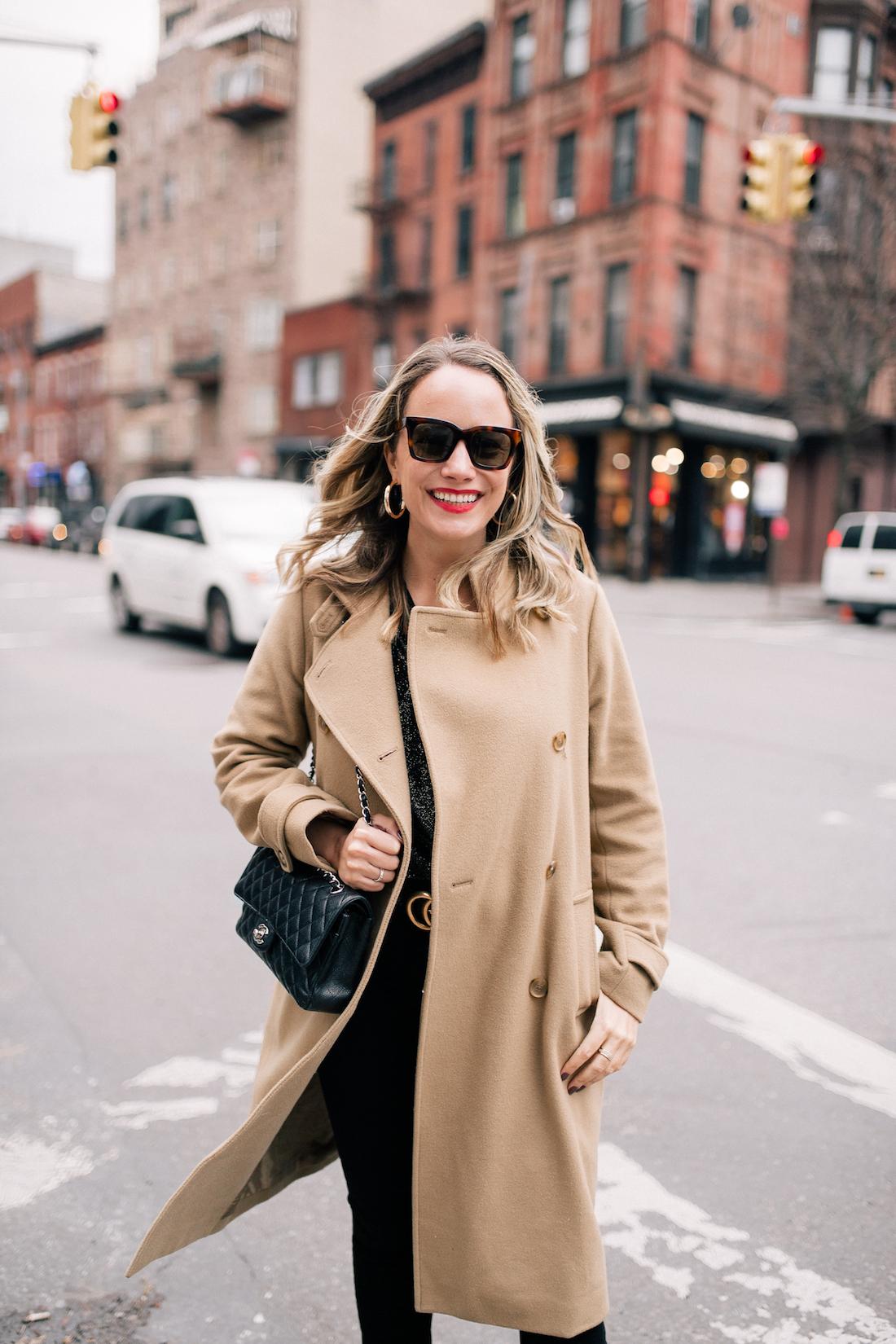 Camel Coat & Chanel bag