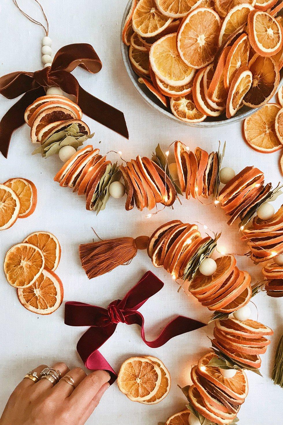 DIY Dried Citrus Garlands