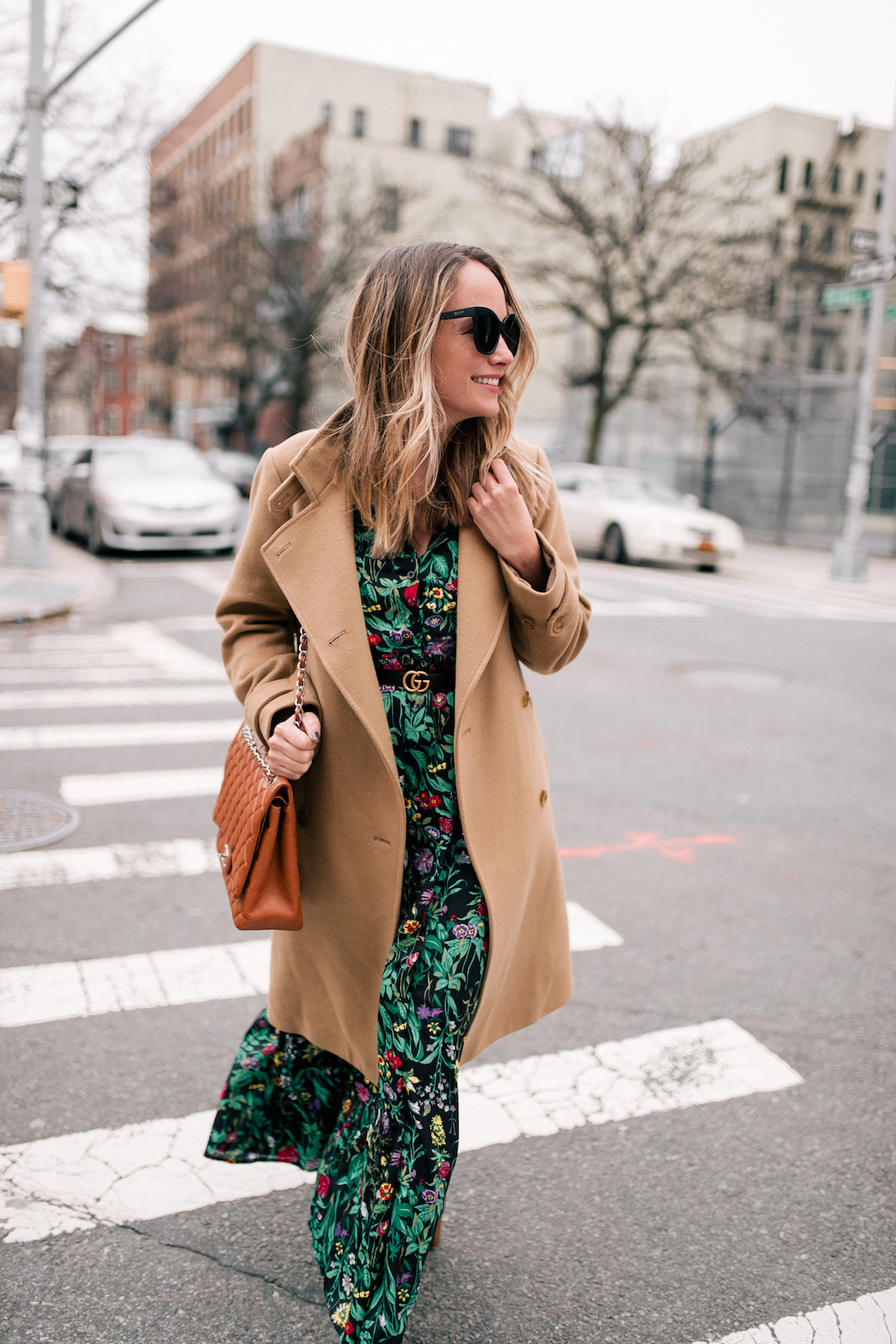 Outfit Details: Vince Coat (a few years old but this, this, and this are simlar) // ASOS Floral Maxi Dress // Express Tights
