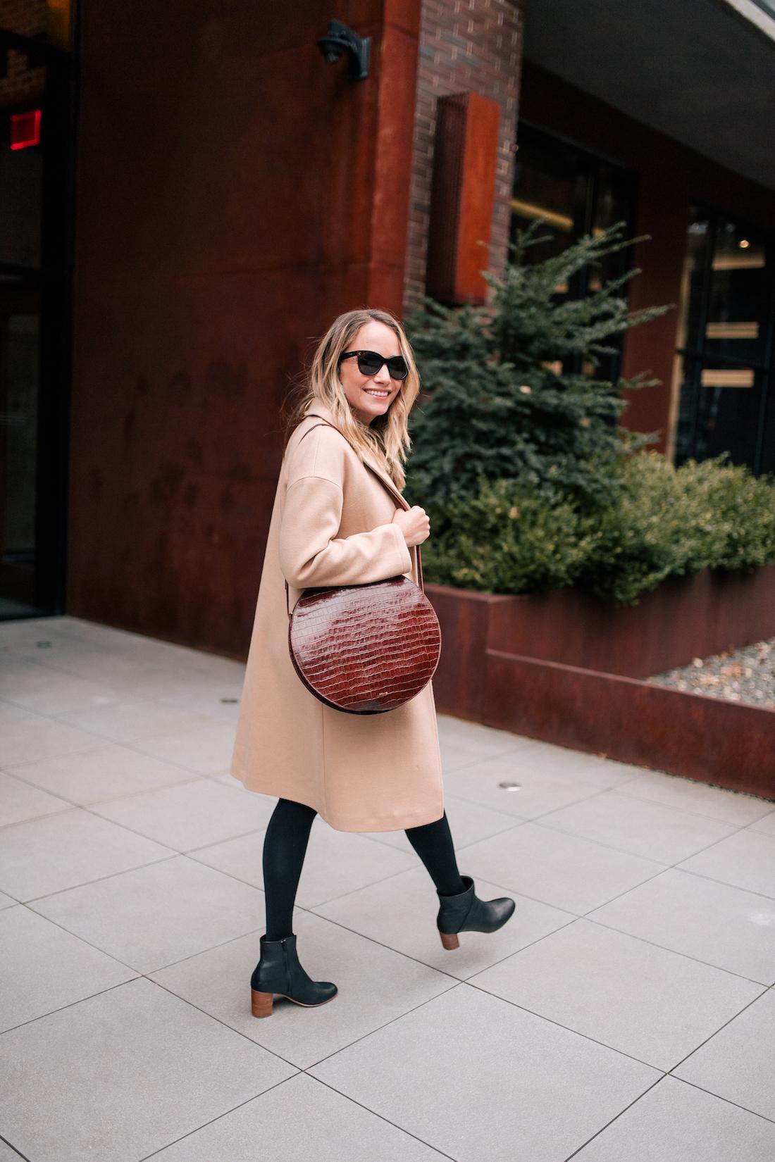 Outfit Details: Topshop Camel Coat