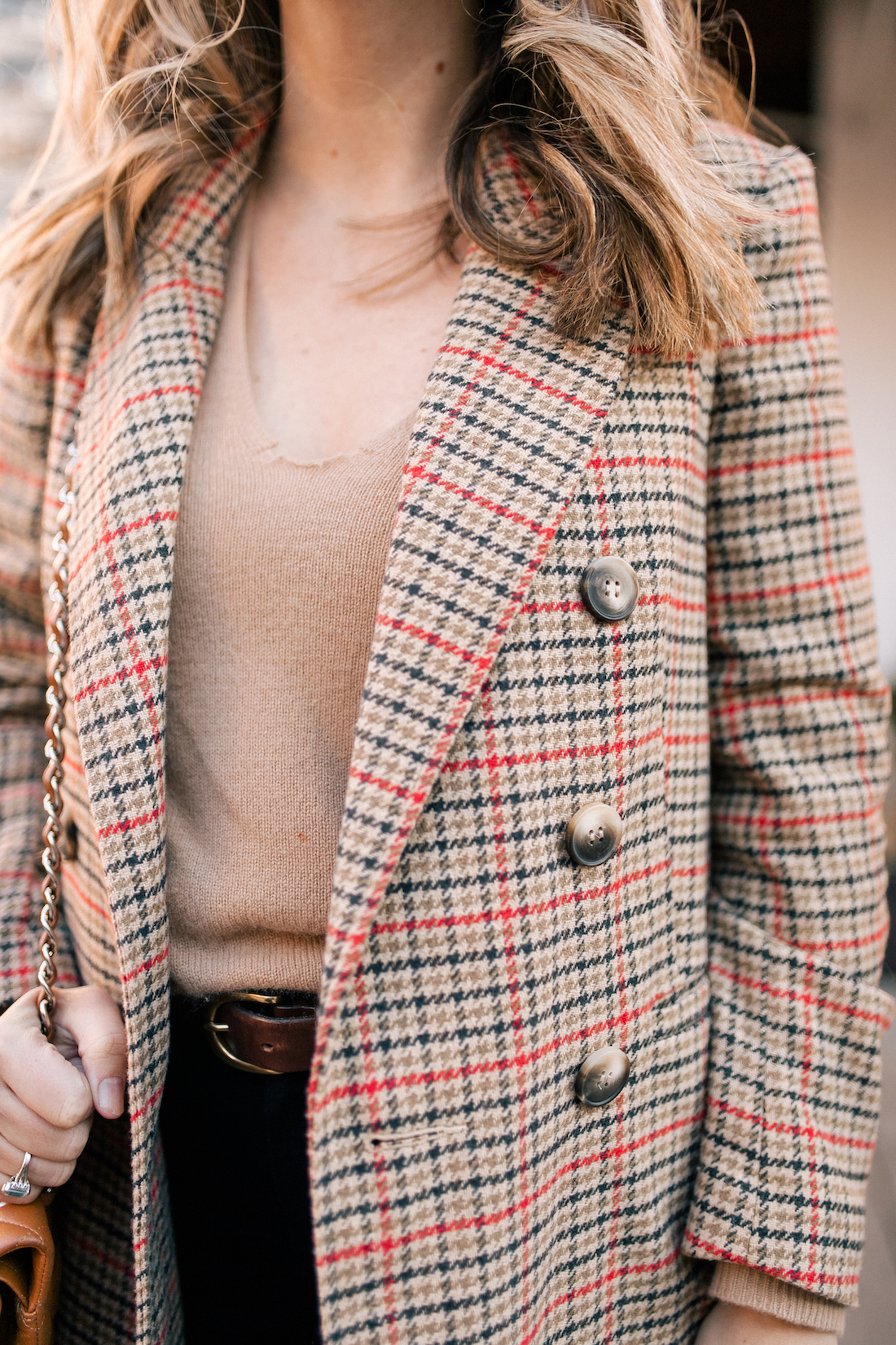 Grace Atwood Outfit Details:Topshop Coat // Theory Cashmere Sweater