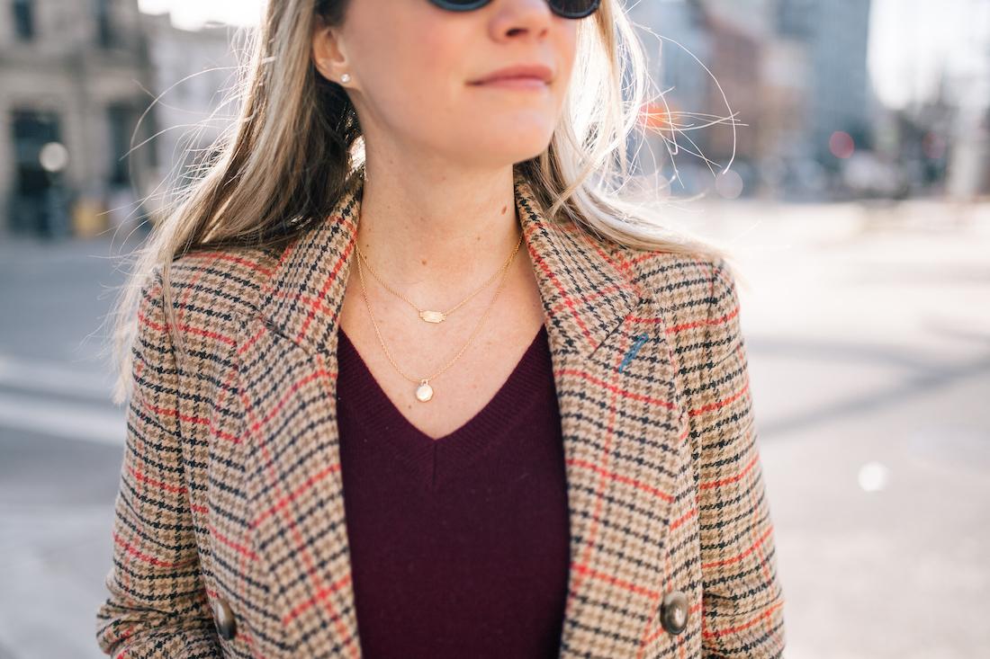 Grace's outfit details: Topshop Coat // Halogen Cashmere Sweater // Estee Lalonde x Daisy Jewellery Necklaces