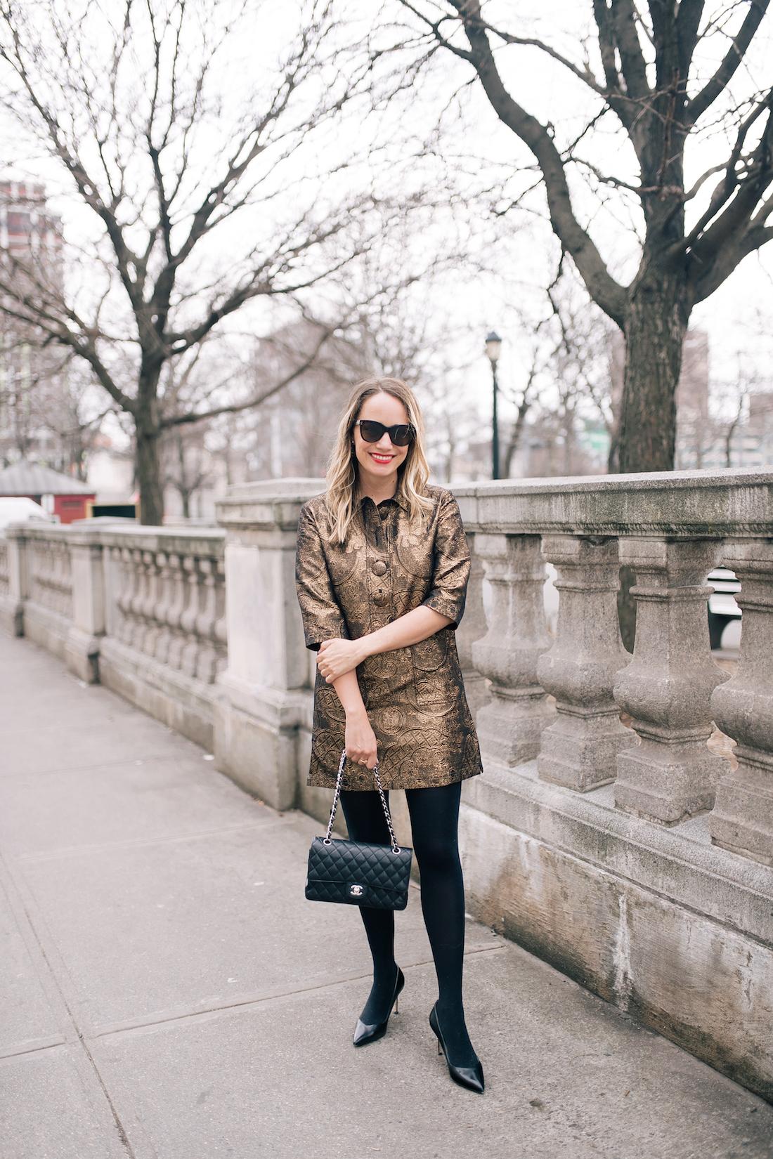 Grace Atwwod is wearing aDovima Paris Dress