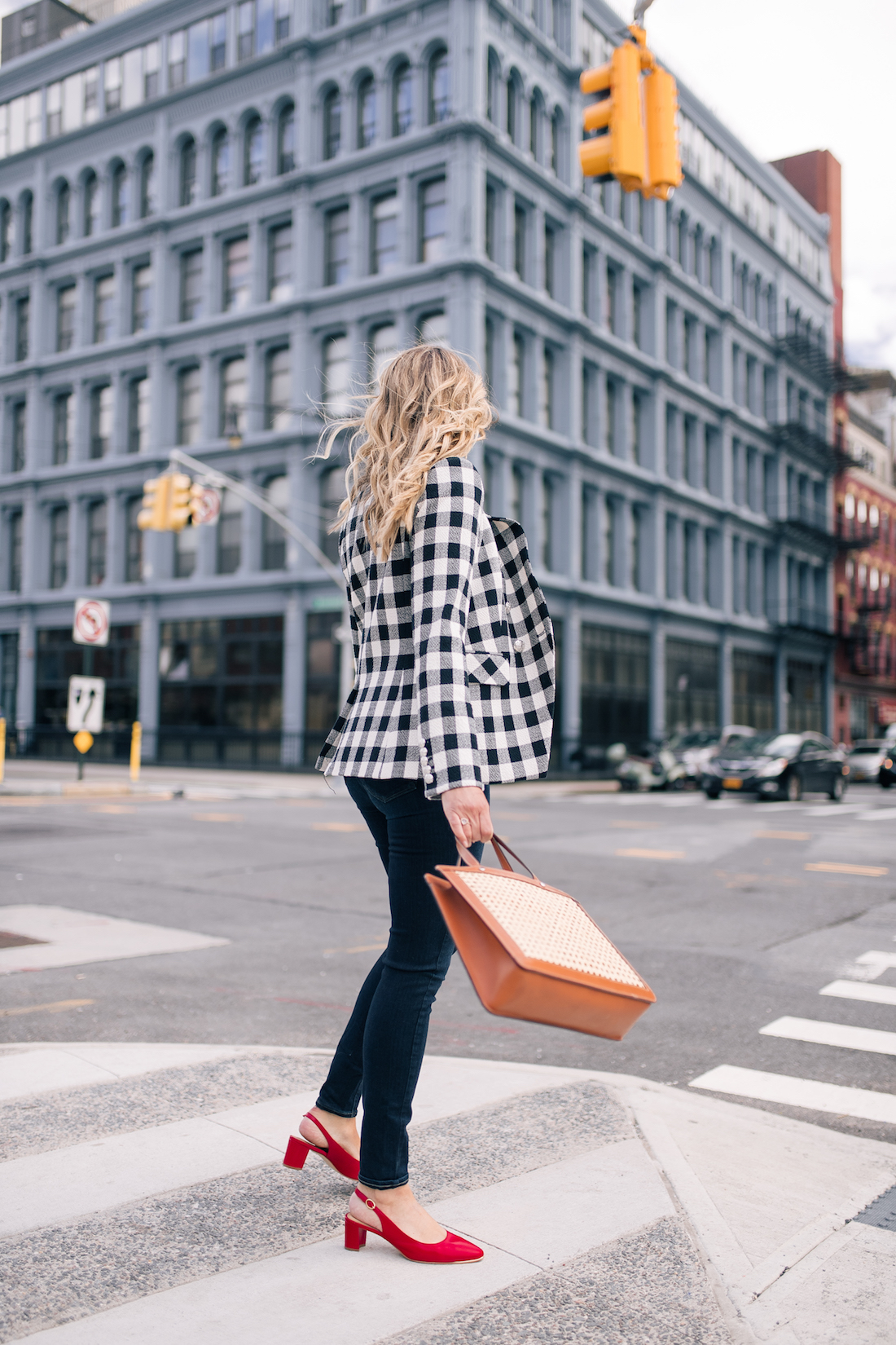 Gingham Blazer Outfit