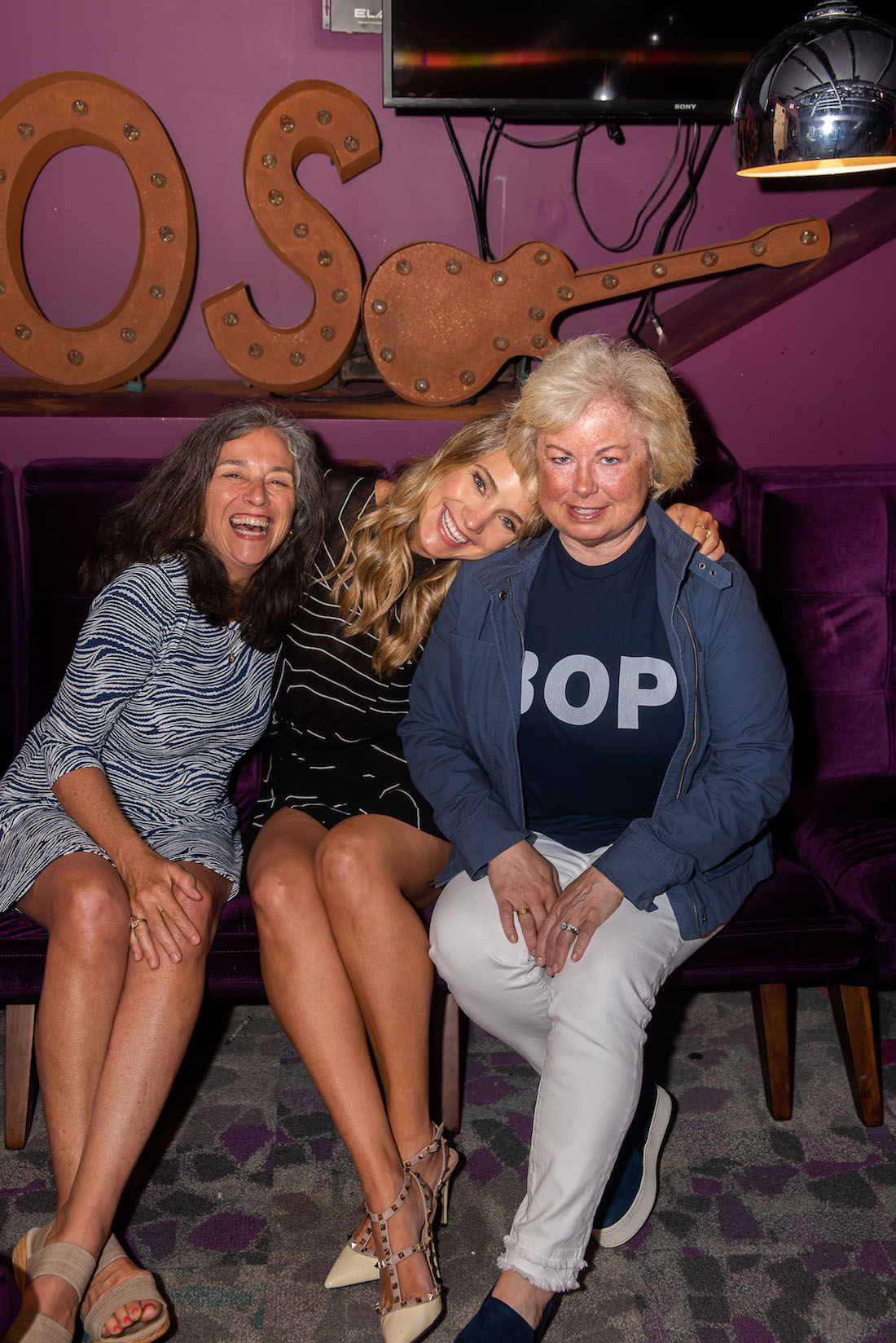 Grace Atwood with her mom and aunt