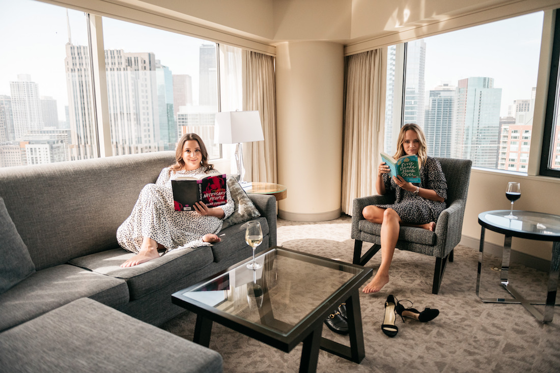 Becca Freeman and Grace Atwood at the Swissôtel - Chicago