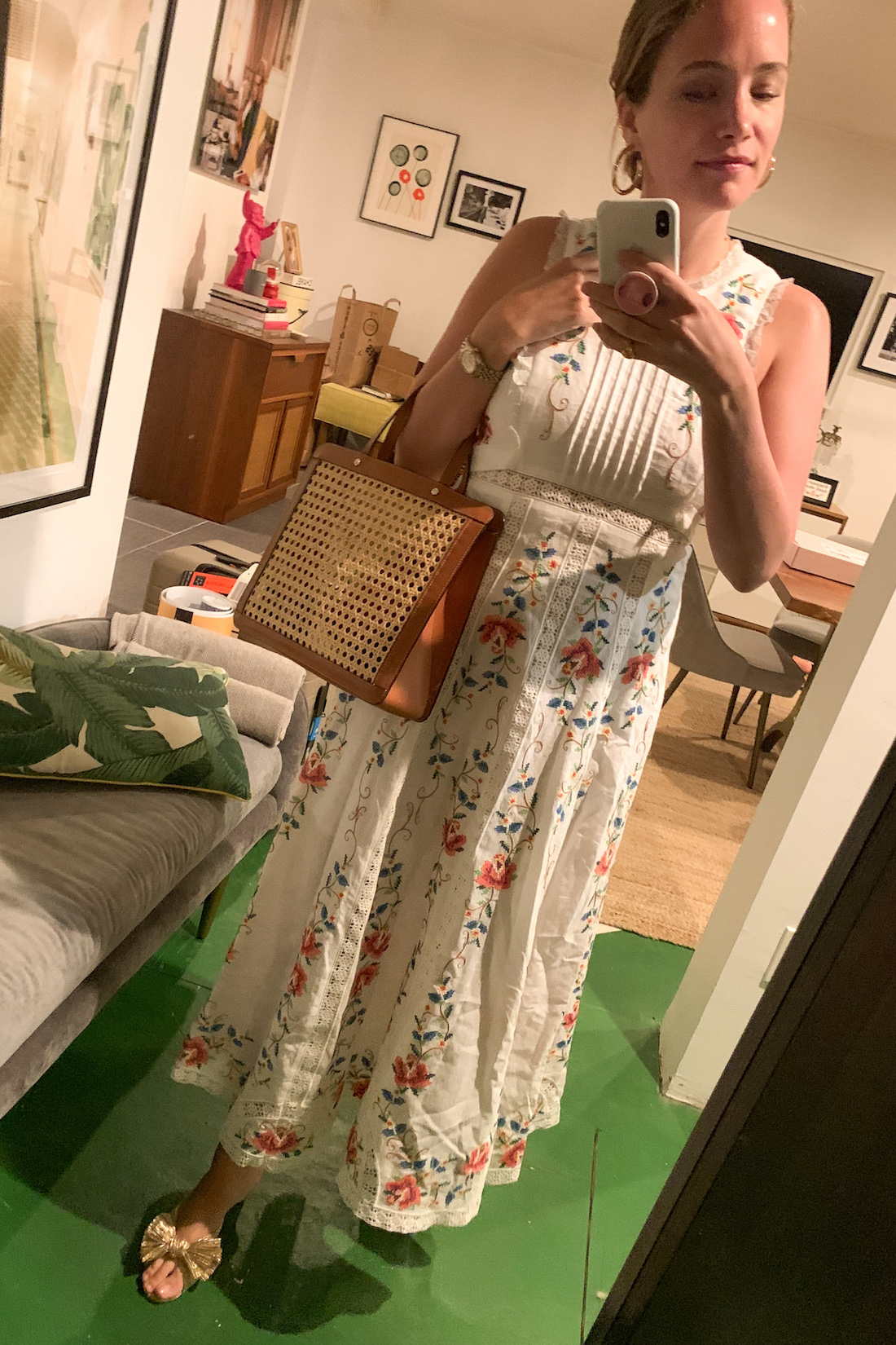 daily outfits - zimmermann embroidered dress