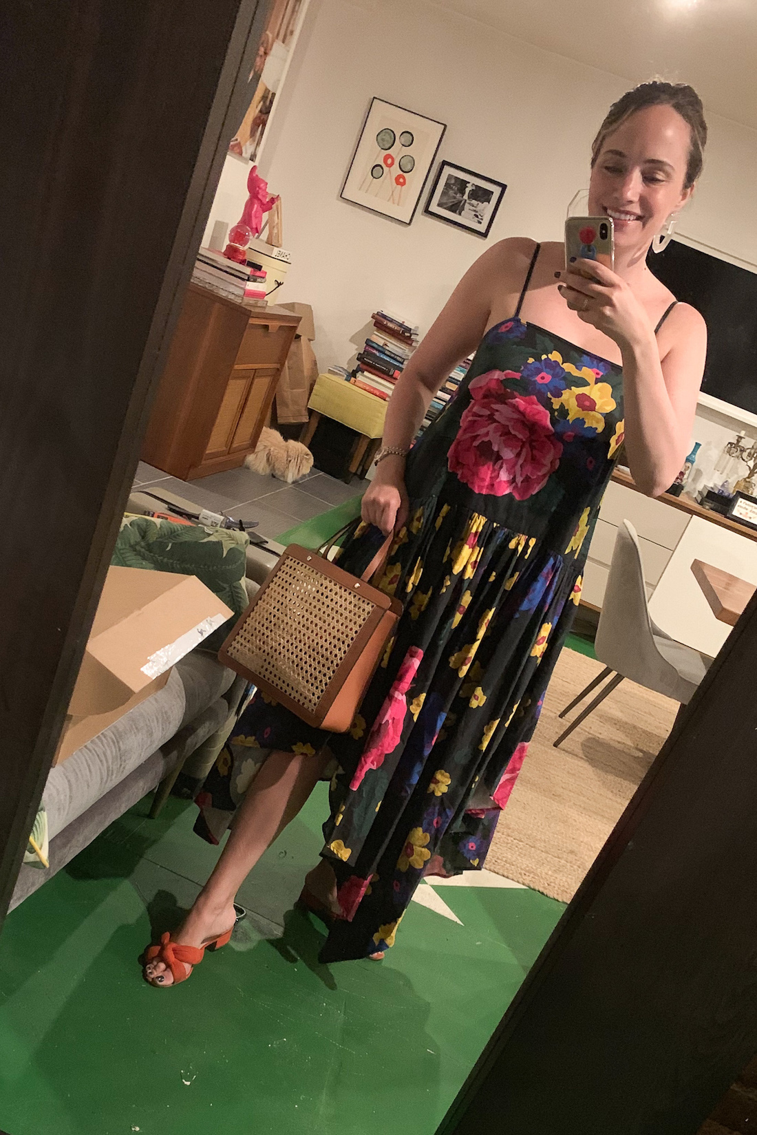 What I Actually Wore: 7.13 - 7.19 - black floral dress