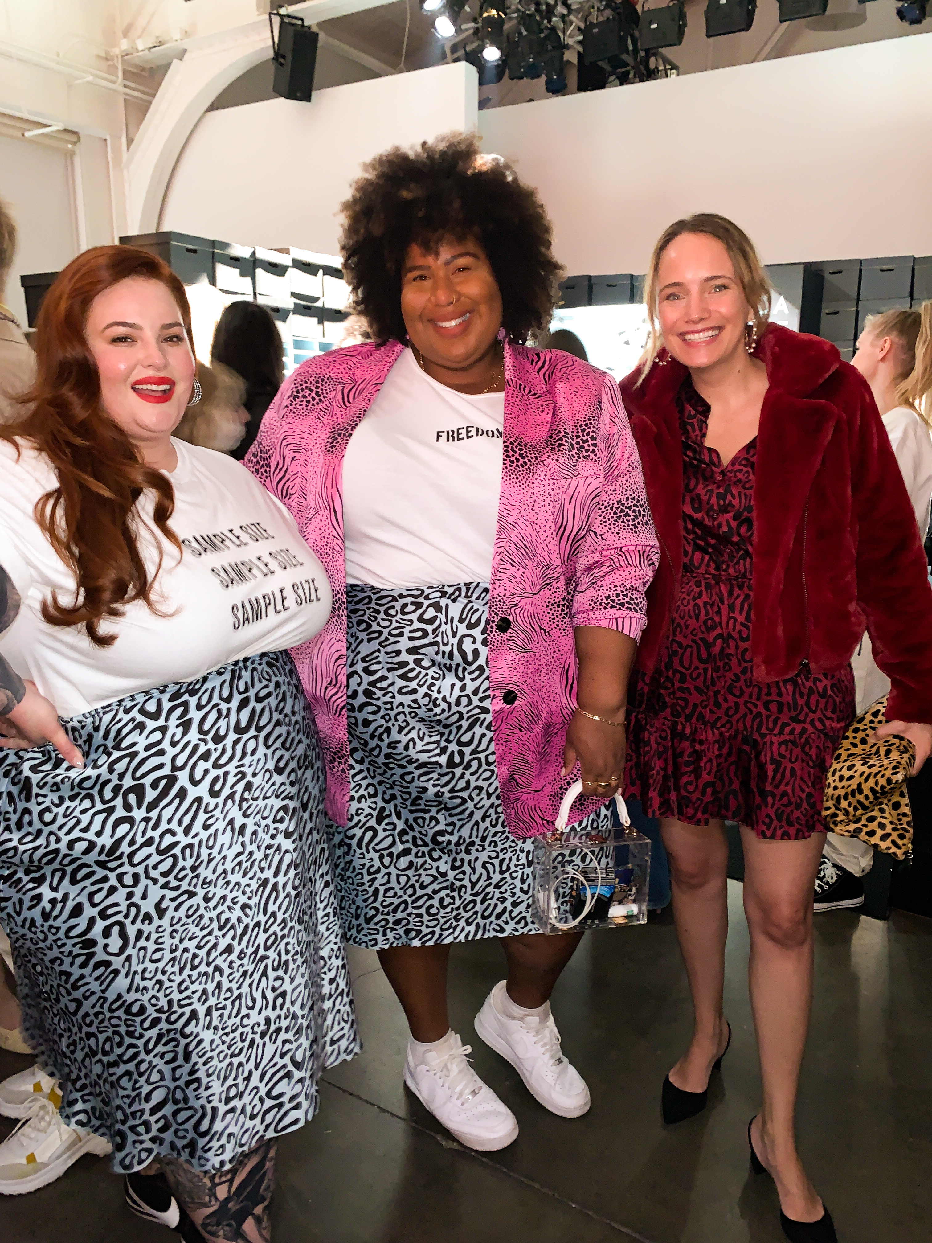 three woman in rebecca minkoff inclusive collection