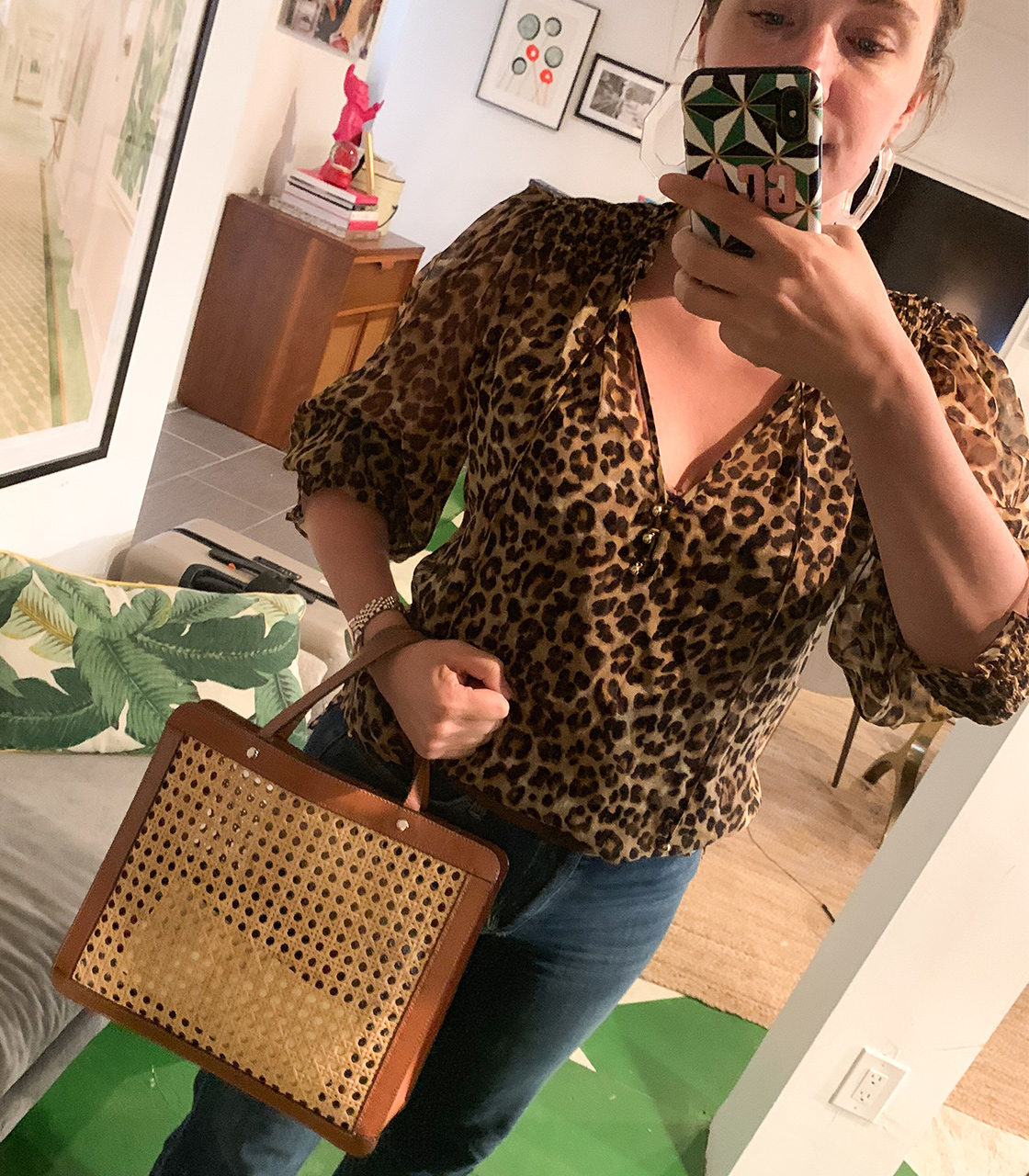 a cheetah blouse